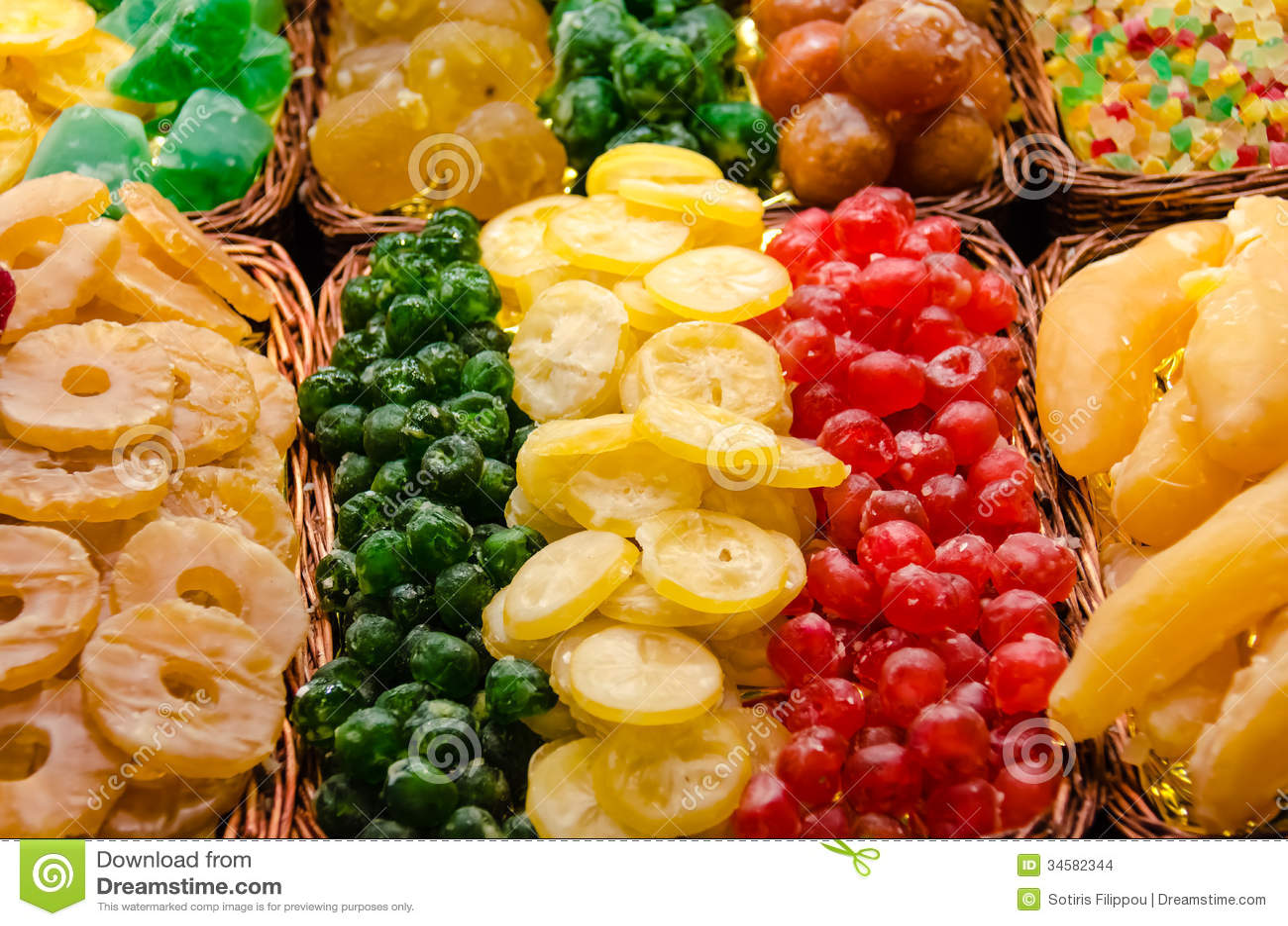 Kolorowe wysuszone owoc