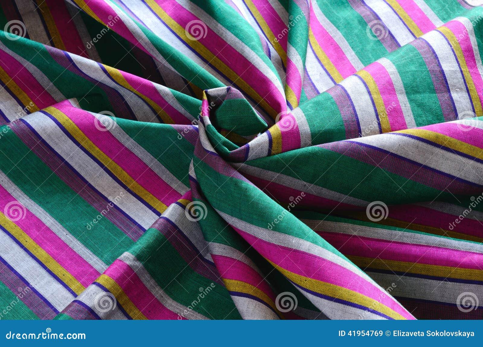 Kolorowego indianina pasiasta tkanina