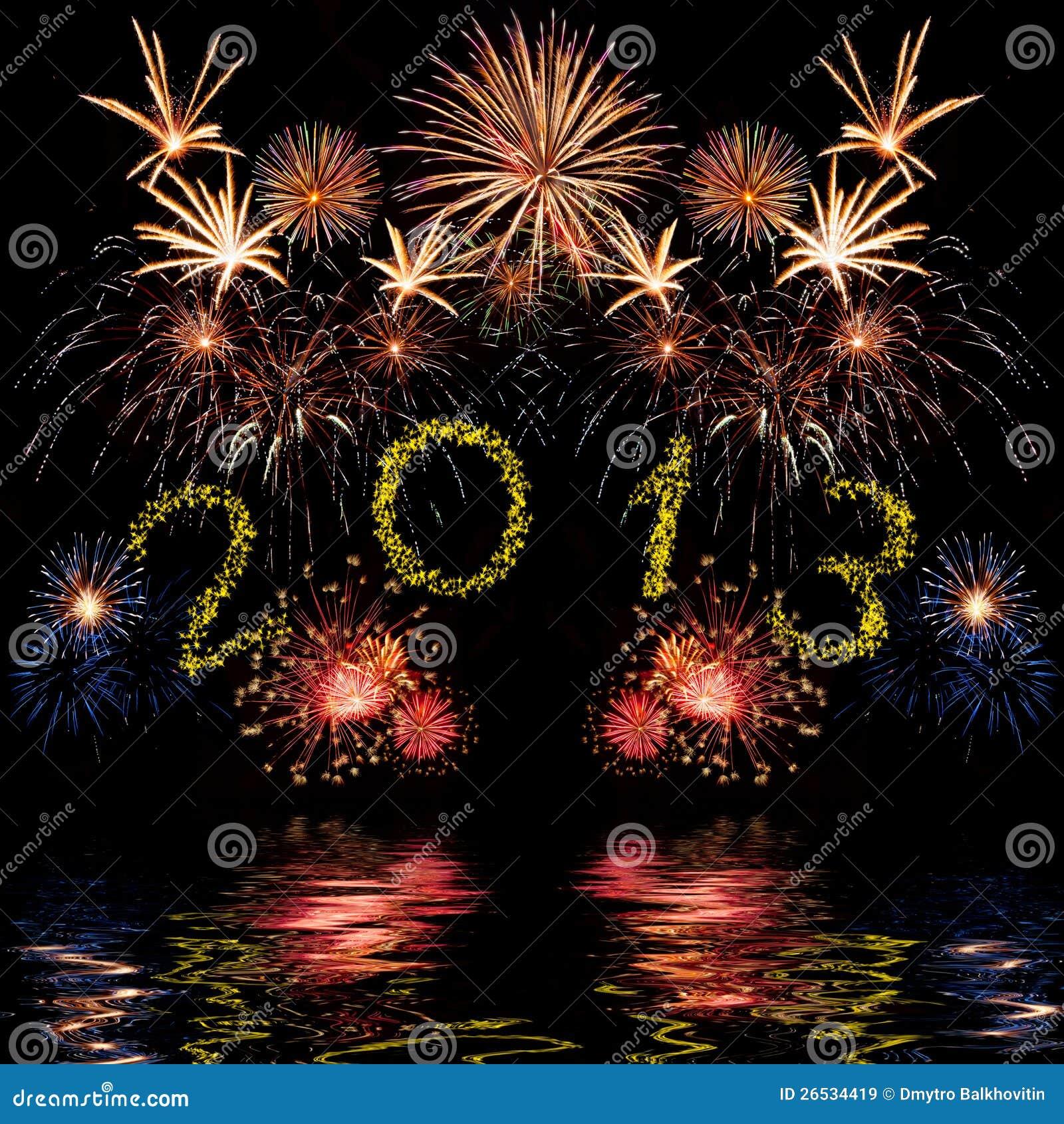 Kolorowi 2013 nowy rok fajerwerki