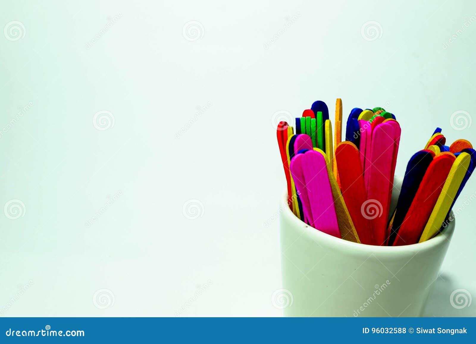 Kolorowi cukierków kije