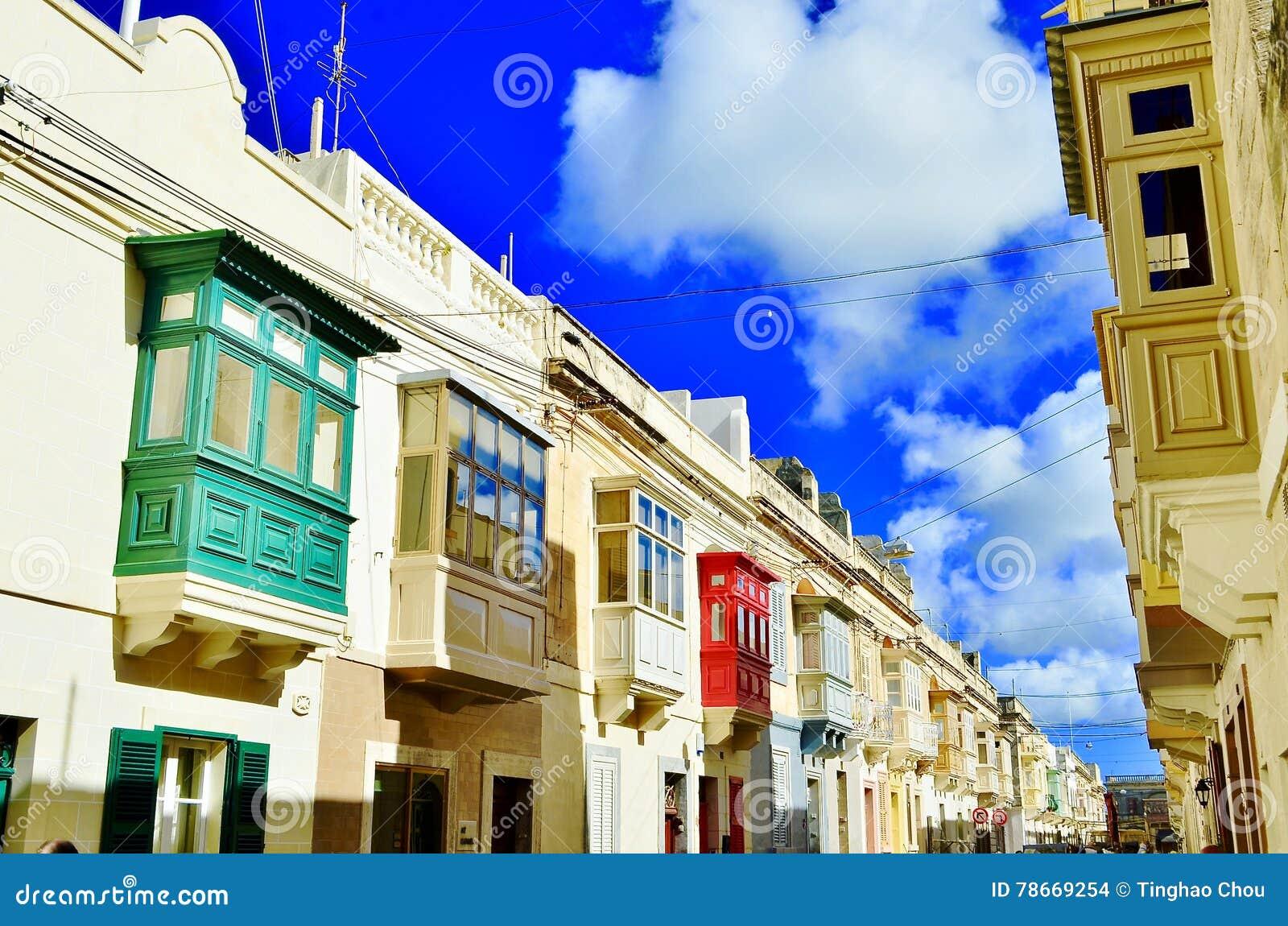 Kolorowi domy w Malta