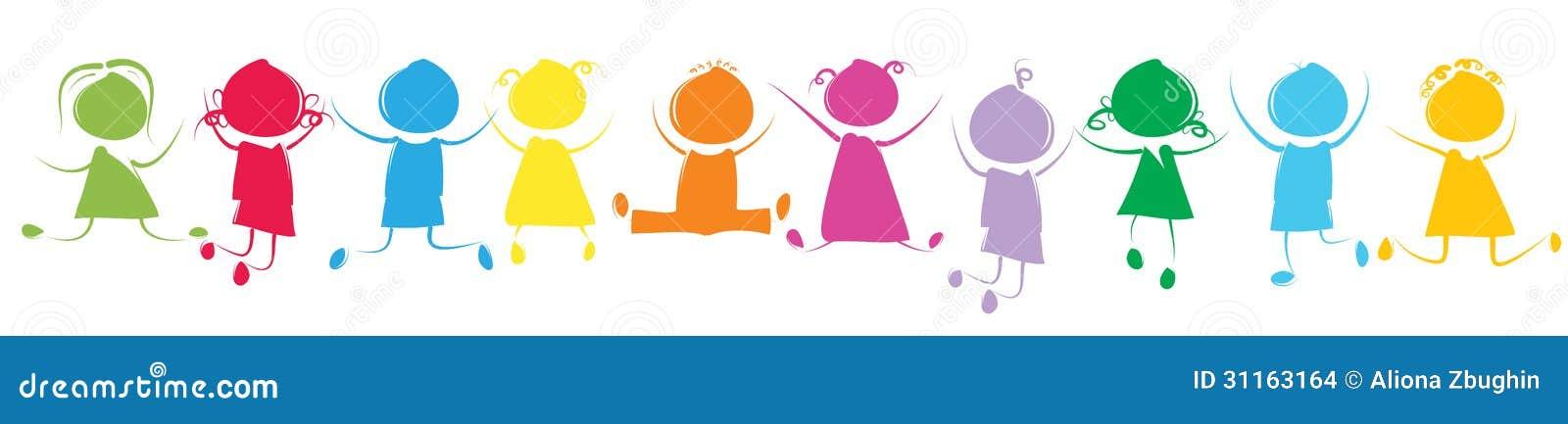 Kolorowi dzieciaki