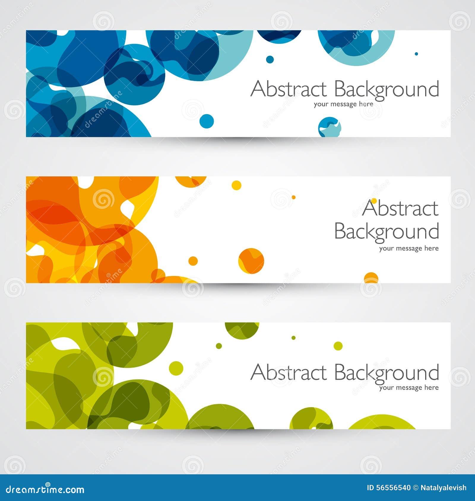 Kolorowi geometryczni abstrakcjonistyczni wektorowi sztandary