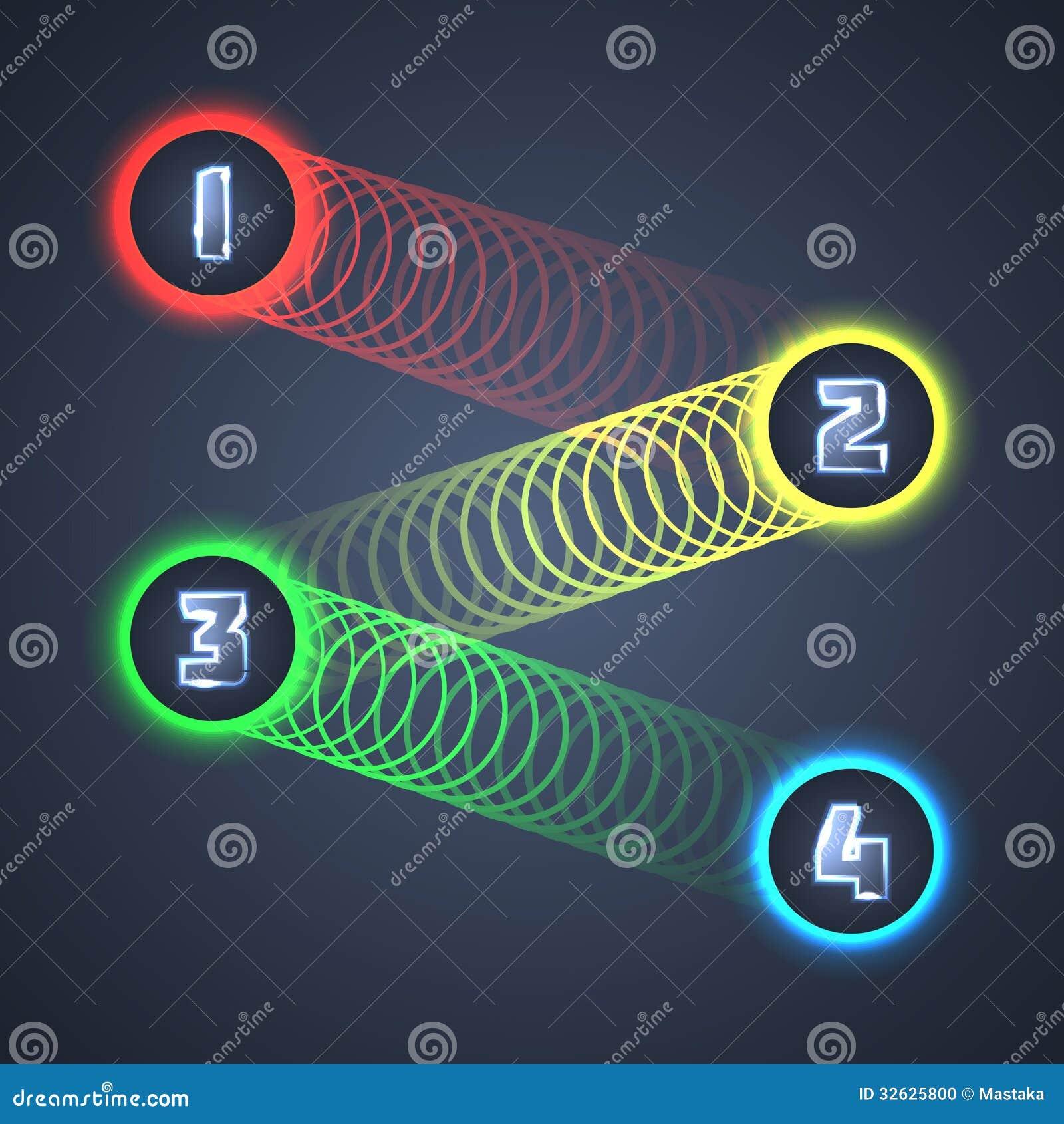Kolorowi Iluminujący Błyszczący Infographic elementy.