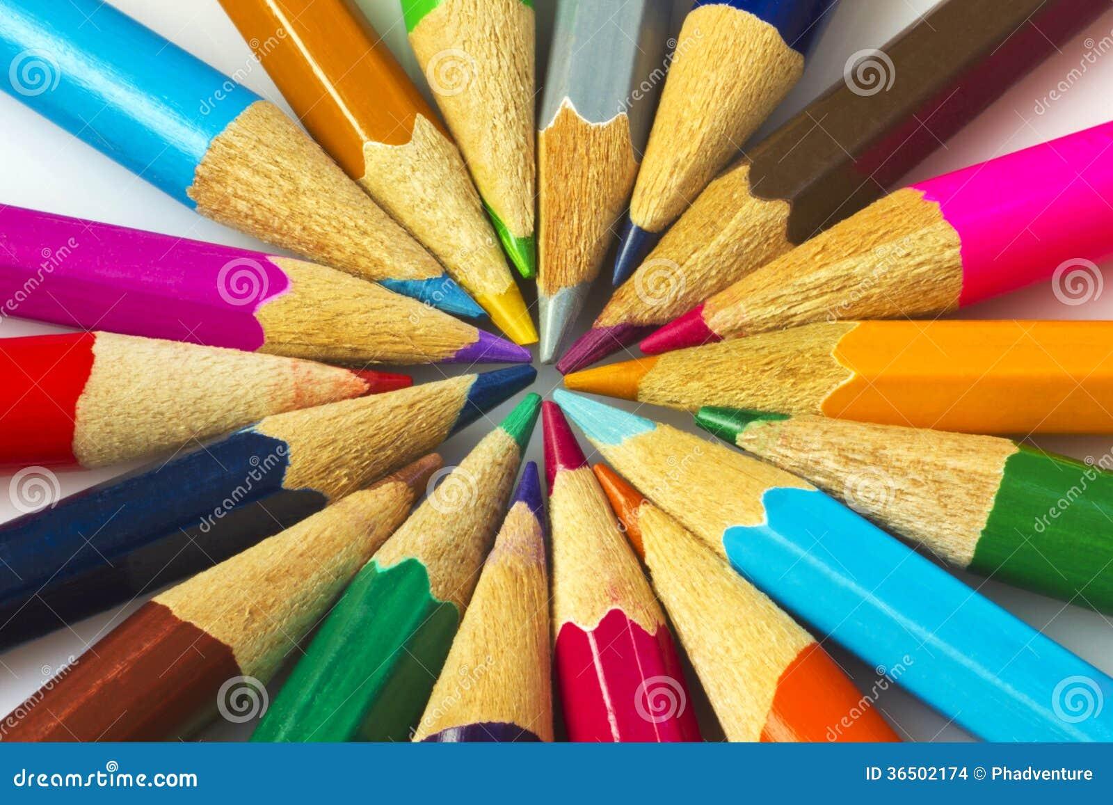 Kolorowi ołówki