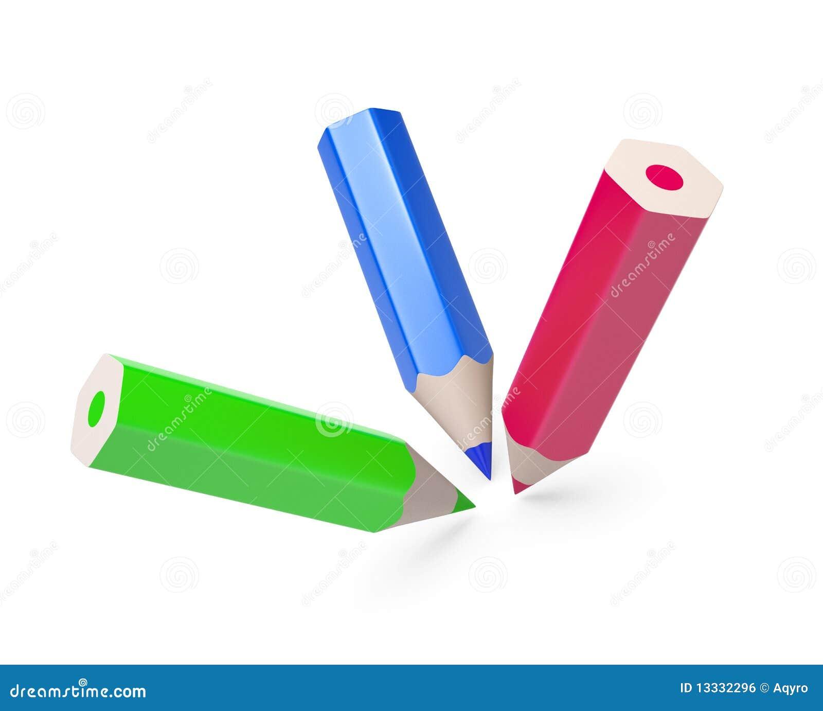 Kolorowi odosobneni ołówki