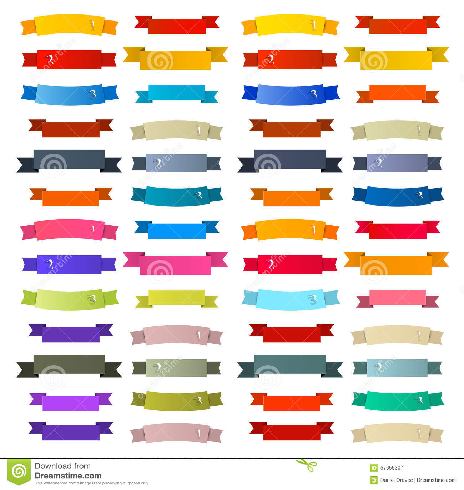 Kolorowi Retro faborki, etykietki Ustawiać