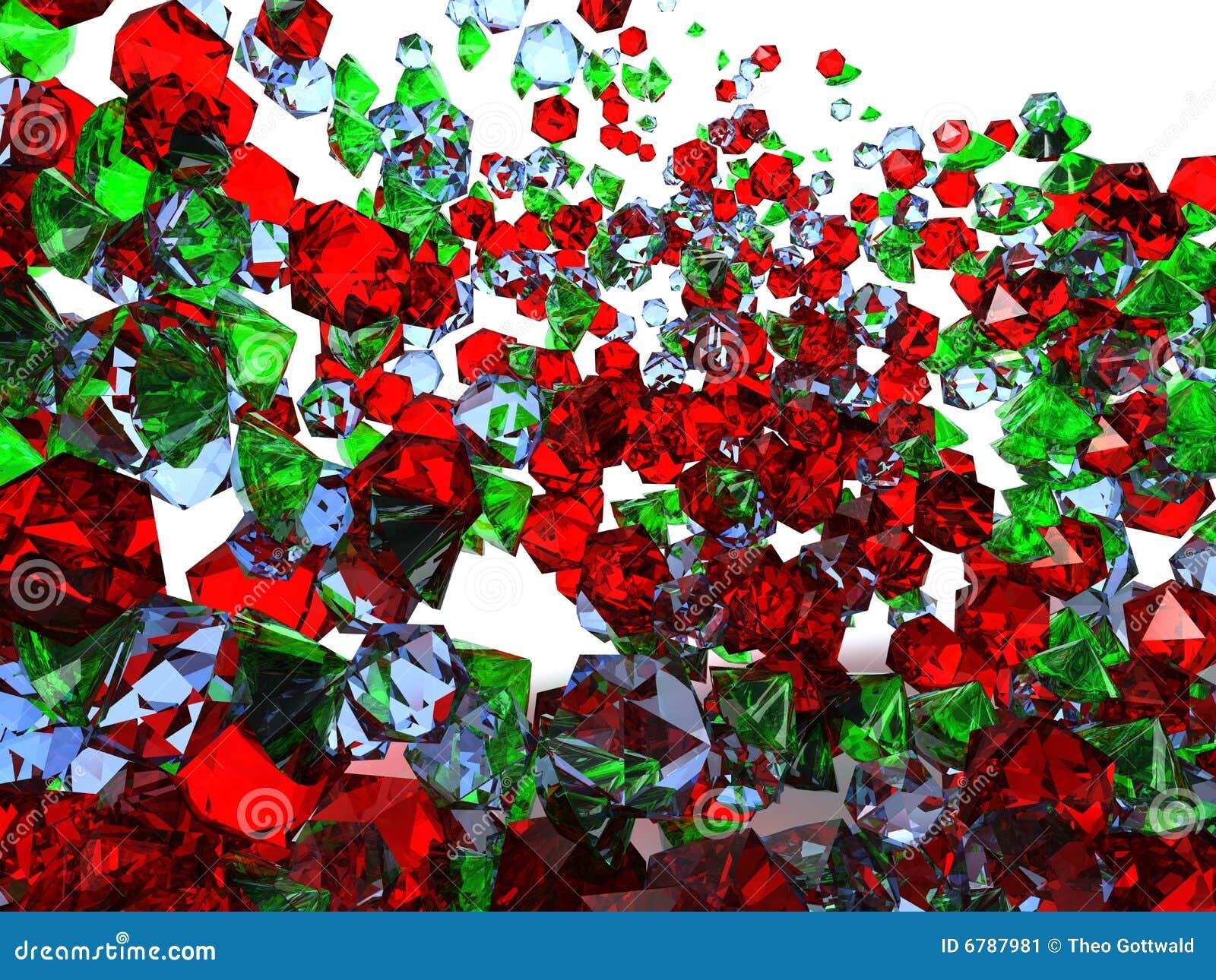 Kolorowi tło klejnoty