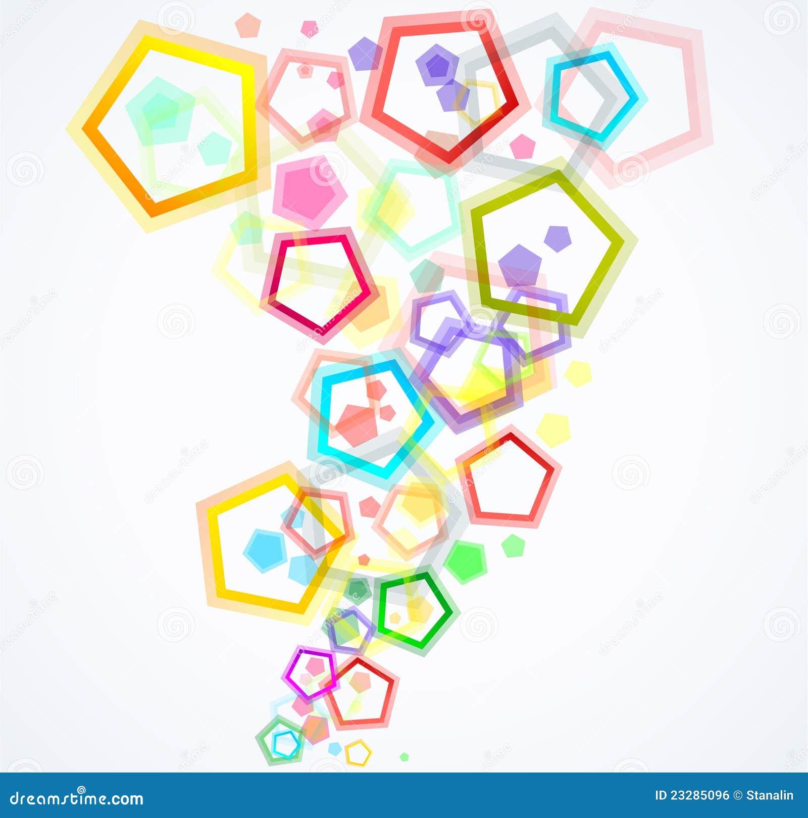 Kolorowi tło pentagony