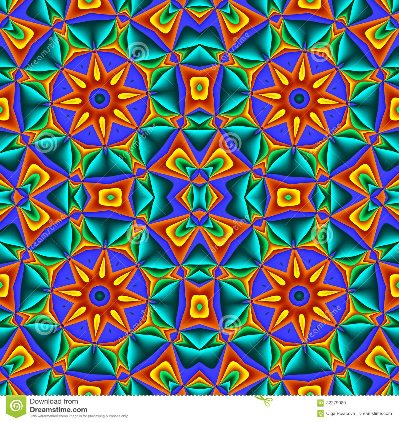 Kolorowy abstrakcjonistyczny bezszwowy wzór z okręgu ornamentem Ty Możesz