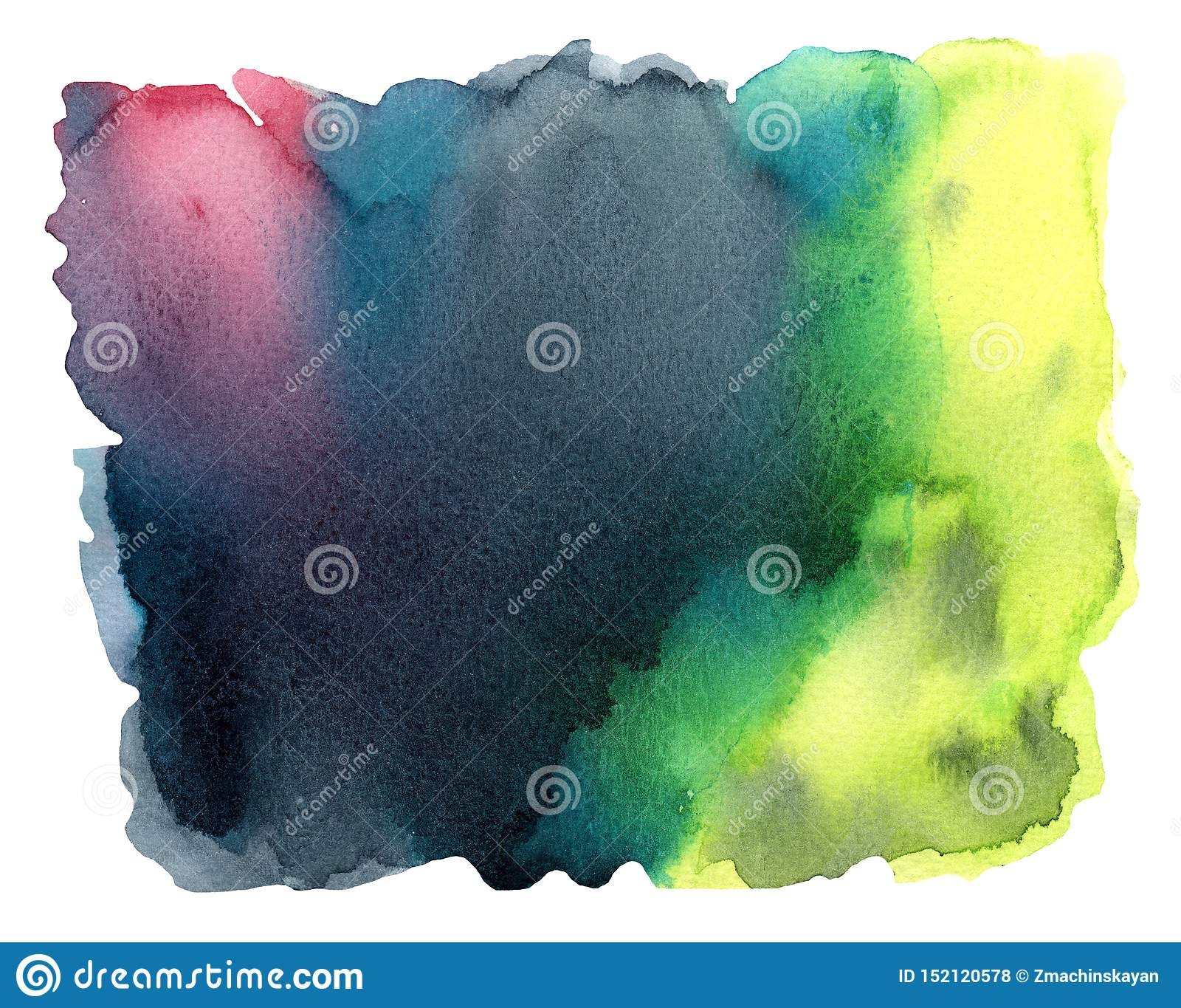 Kolorowy akwareli tło z pluśnięciem