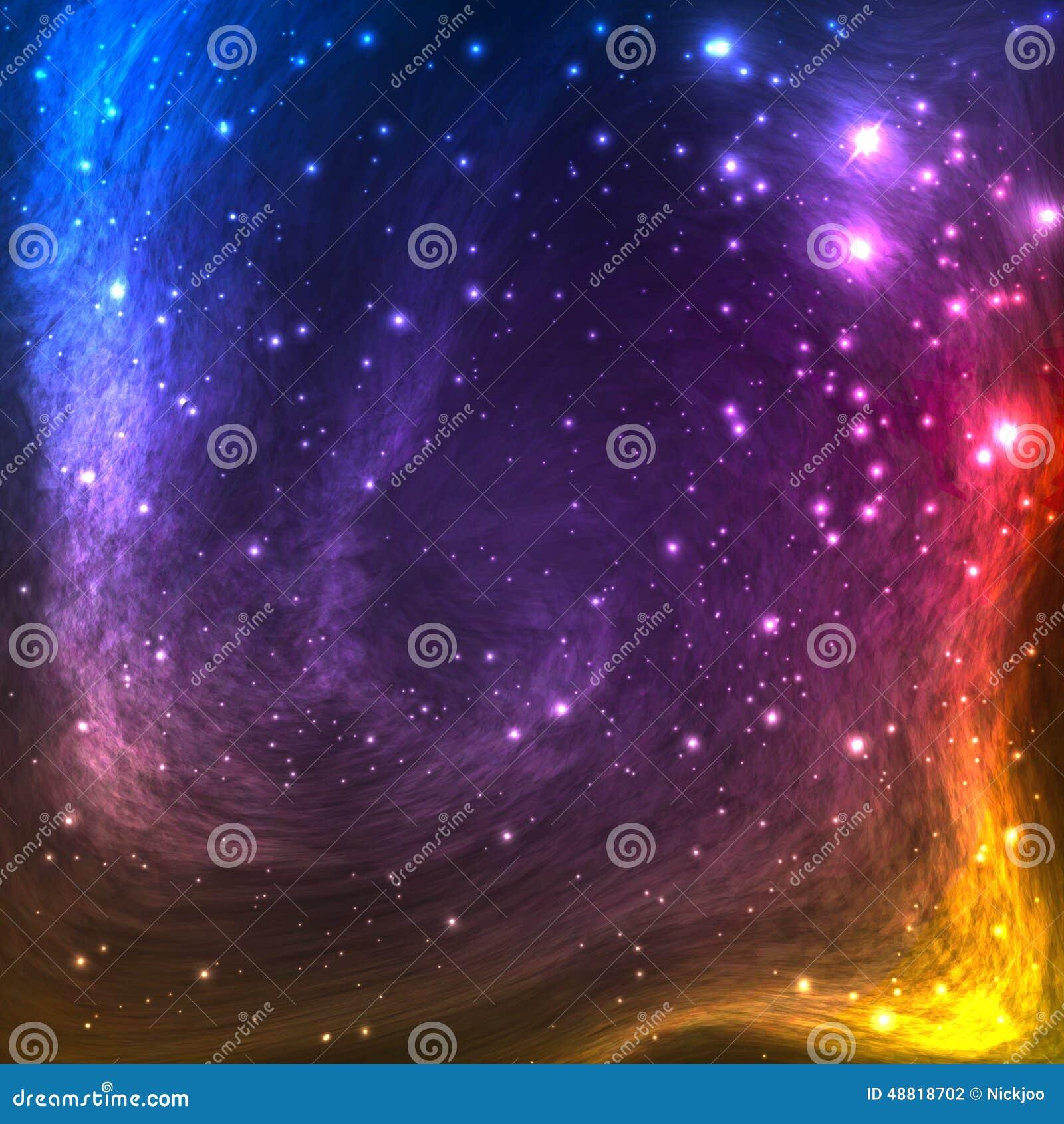 Kolorowy Astronautyczny galaktyki tło z światłem,