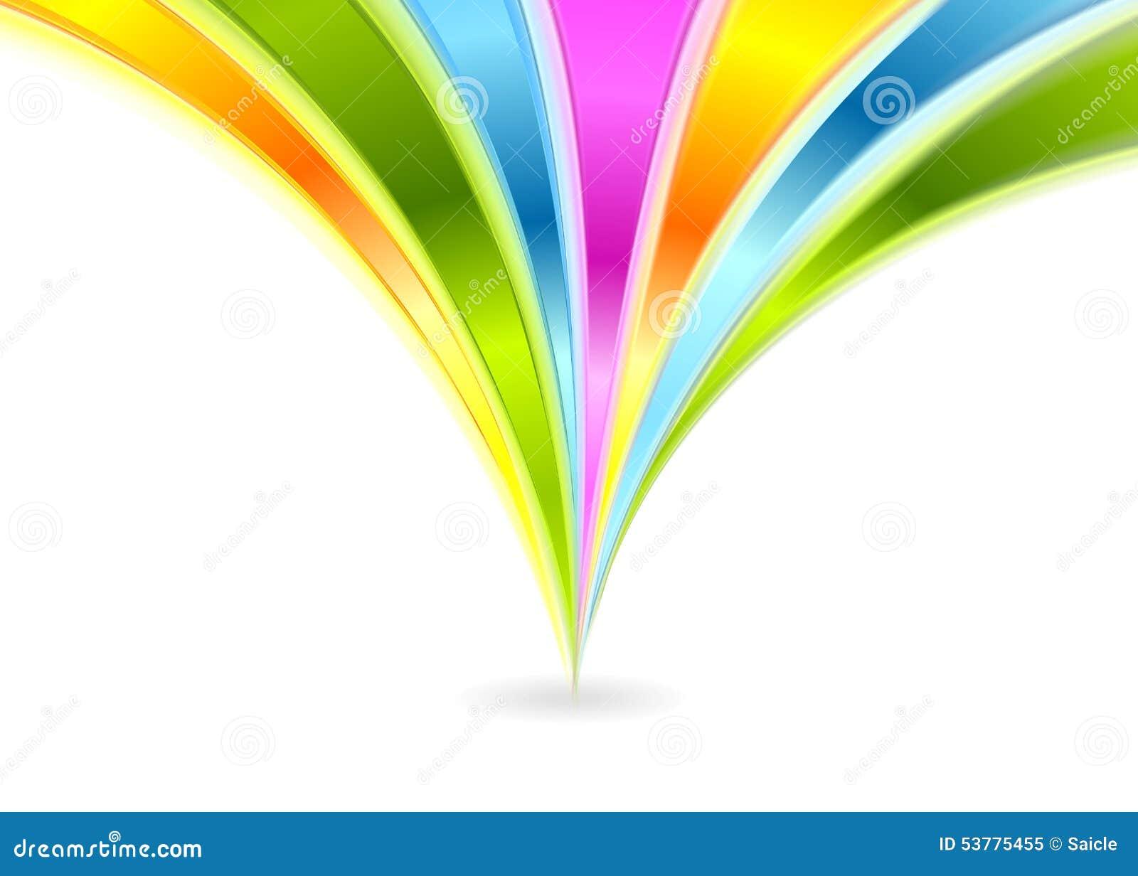 Kolorowy błyszczący fala wektoru tło