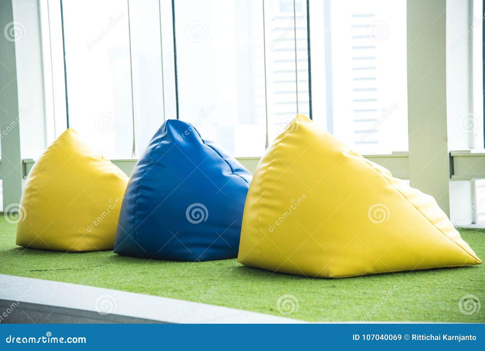 Kolorowy beanbag krzesło dla pinkinu