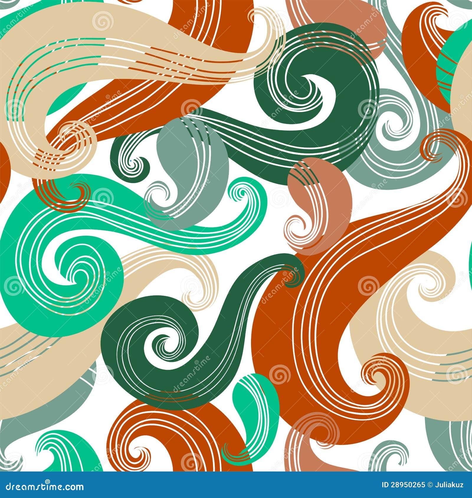 Kolorowy bezszwowy falowy wzór