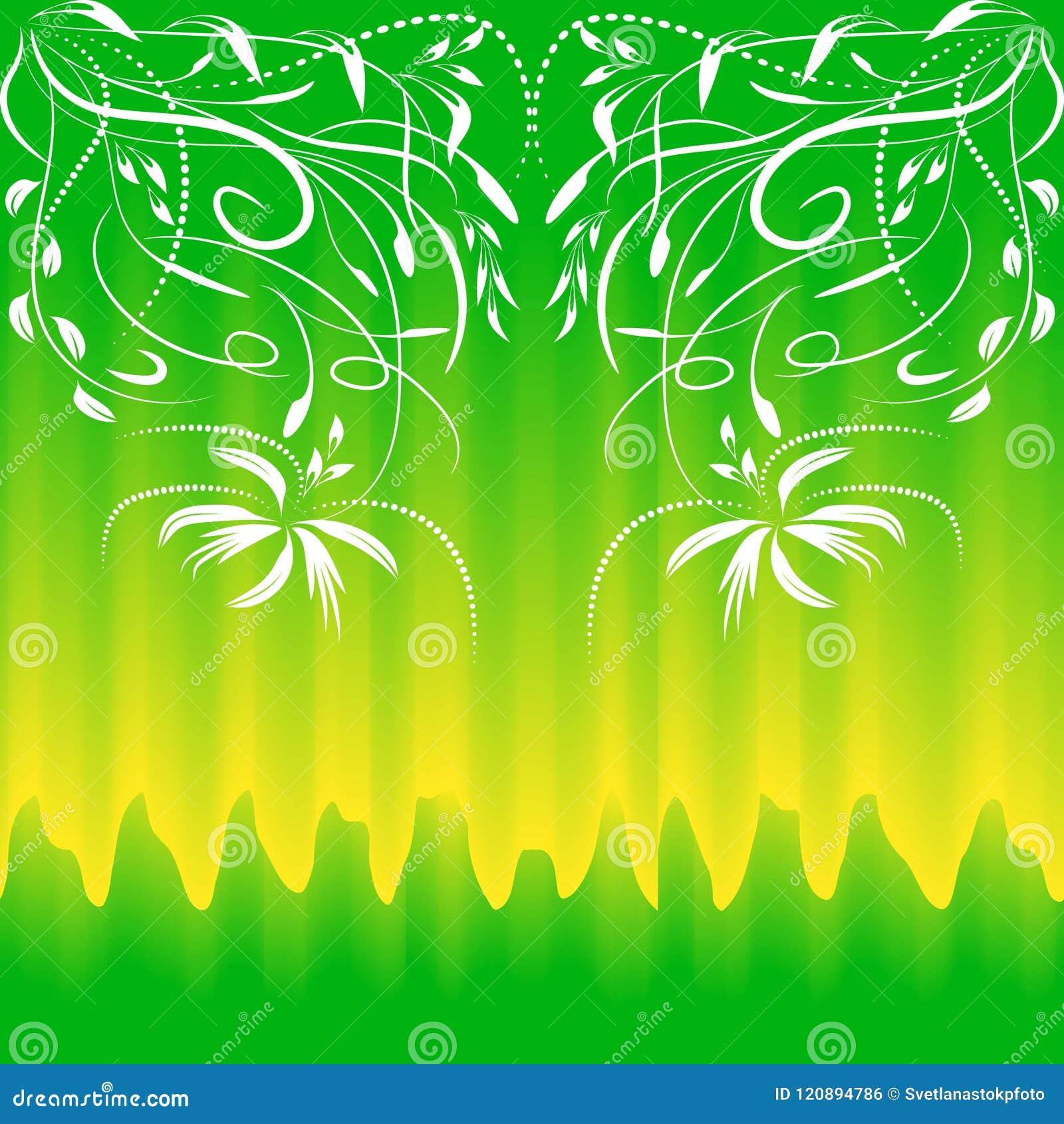 Kolorowy bezszwowy wzór dla tło i projekta Delikatny żółty zielony kolor Bezszwowy kolorowy kwiecisty abstrakt