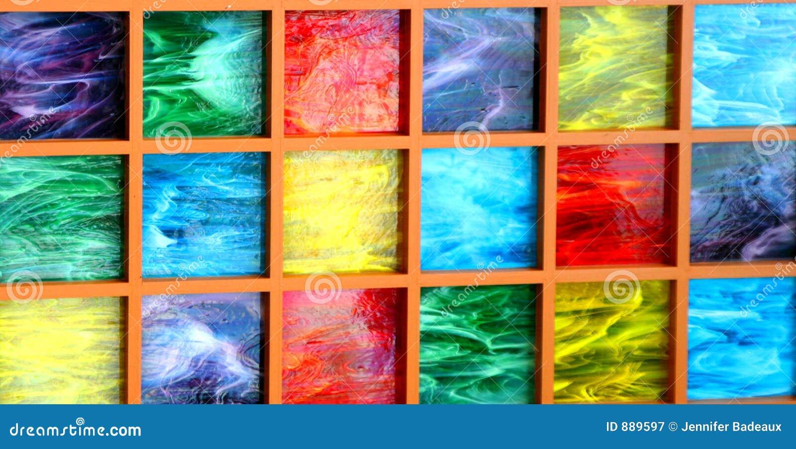 Kolorowy bloku szkła