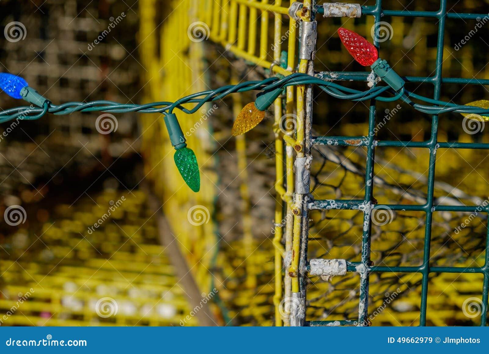 Kolorowy Bożenarodzeniowy wakacje zaświeca dekorować starego używać homara tr