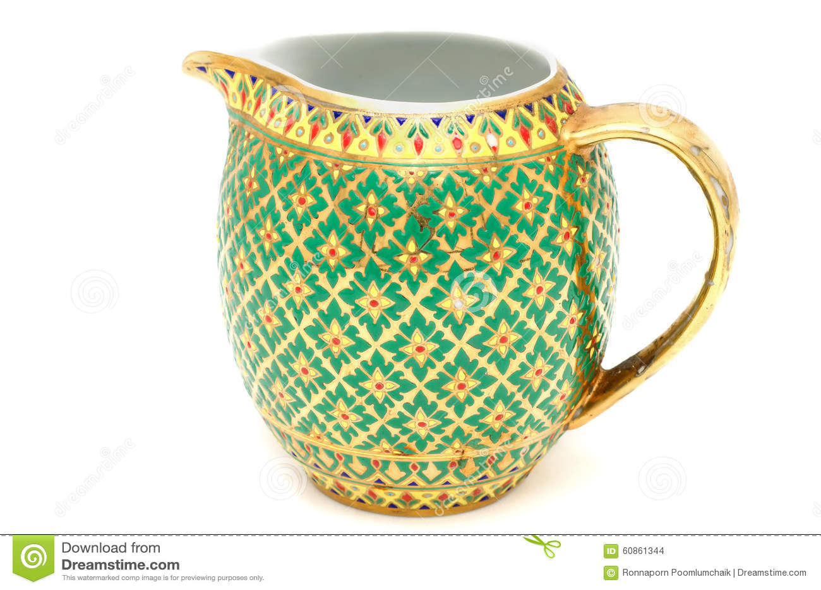 Kolorowy ceramiczny artykuły