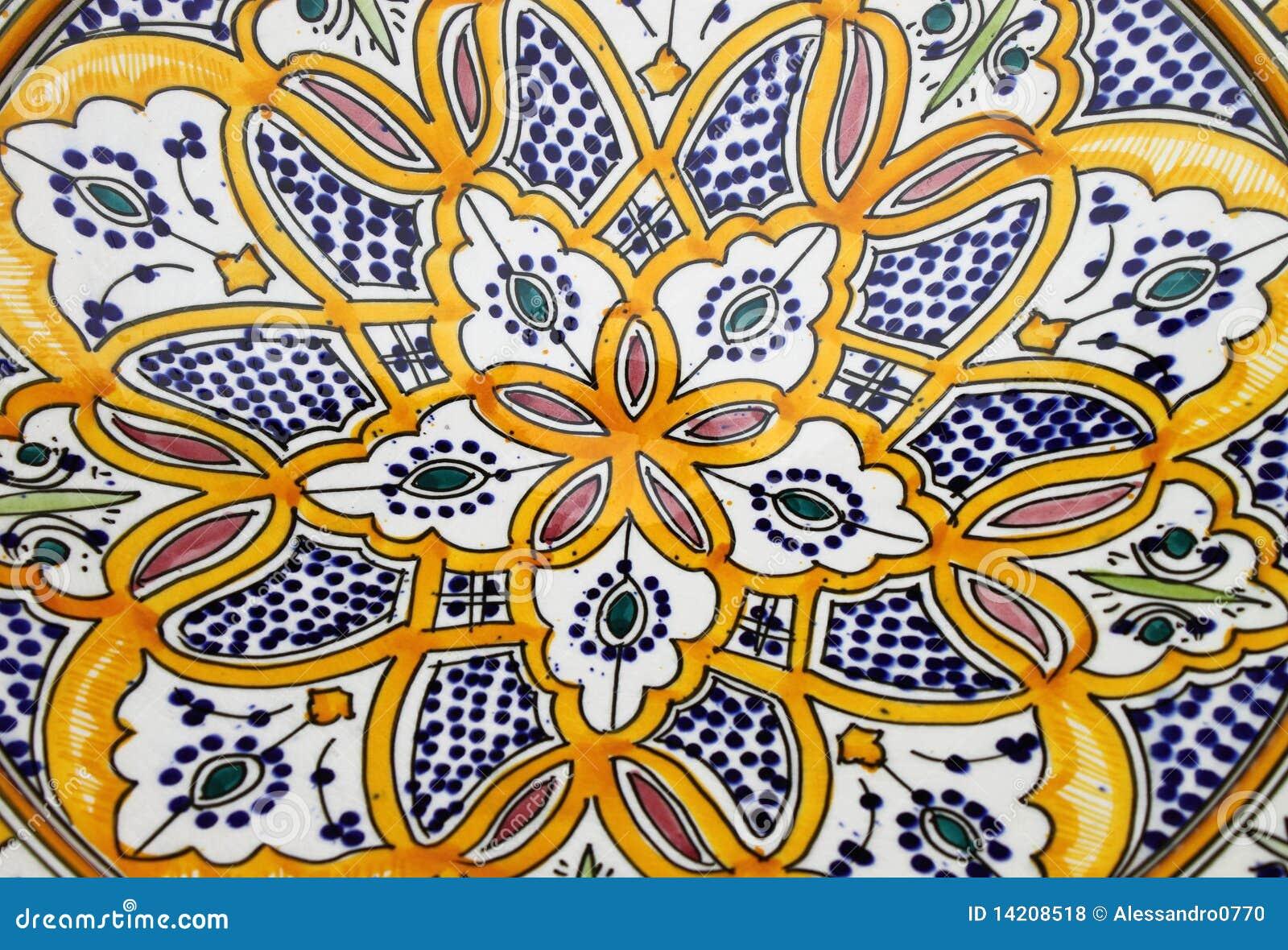 Kolorowy ceramiczny sicilian