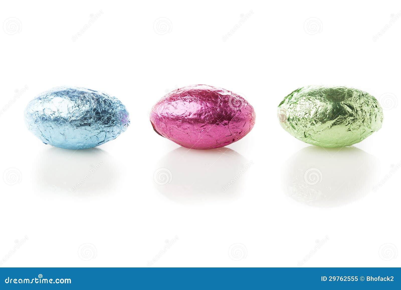 Kolorowy Czekoladowy Wielkanocnego jajka cukierek