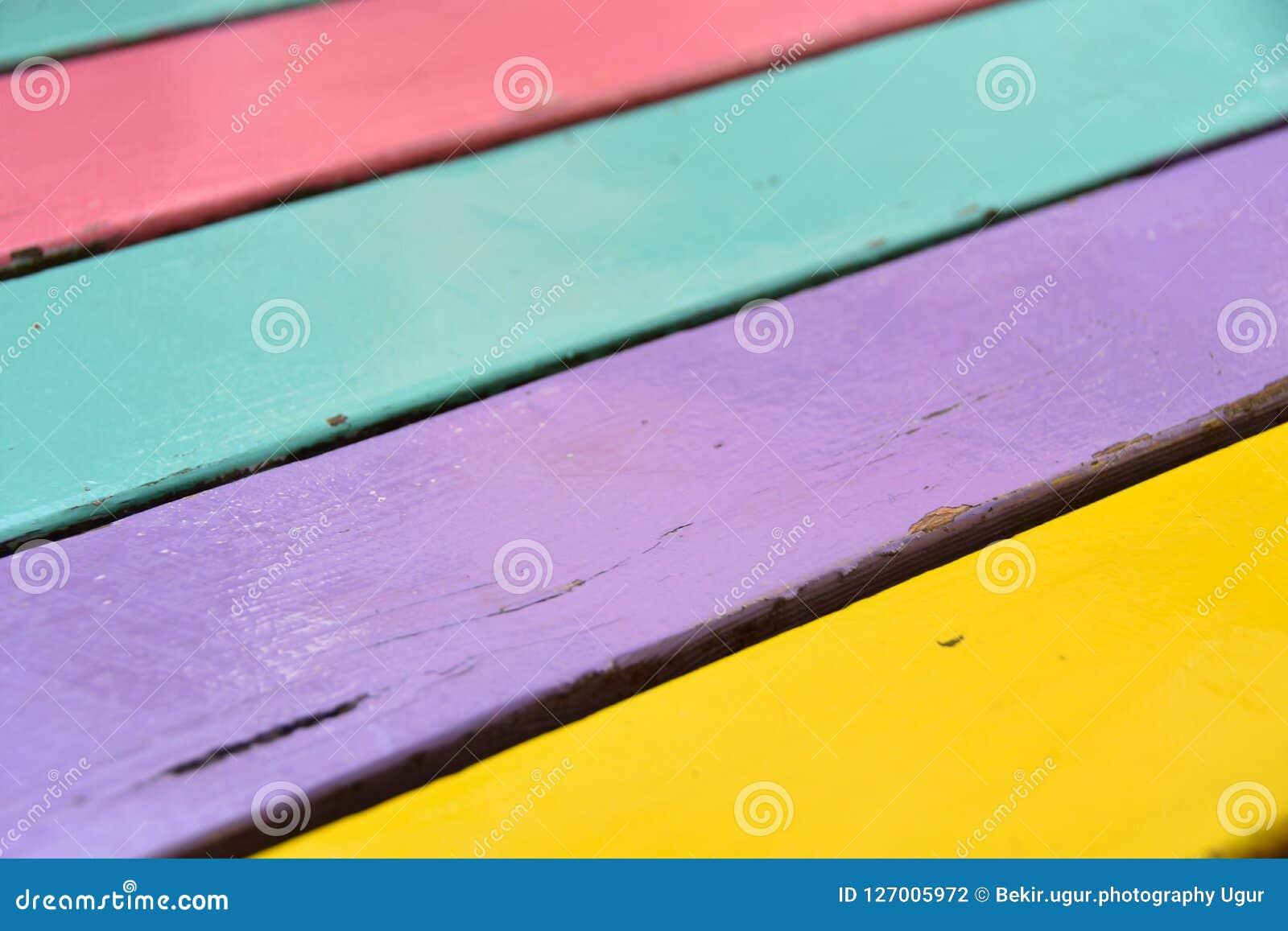 Kolorowy Drewniany deski tekstury tło