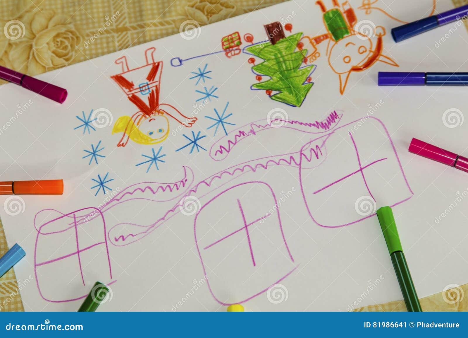 Kolorowy dziecka ` s rysunek