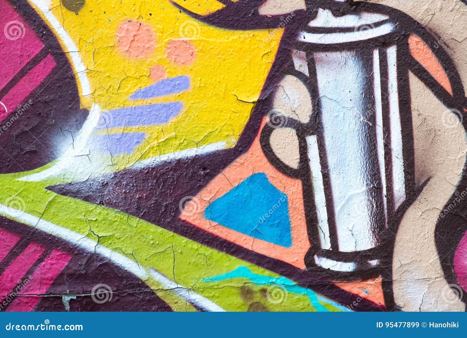 Kolorowy graffiti ściany zbliżenie - graffiti tło