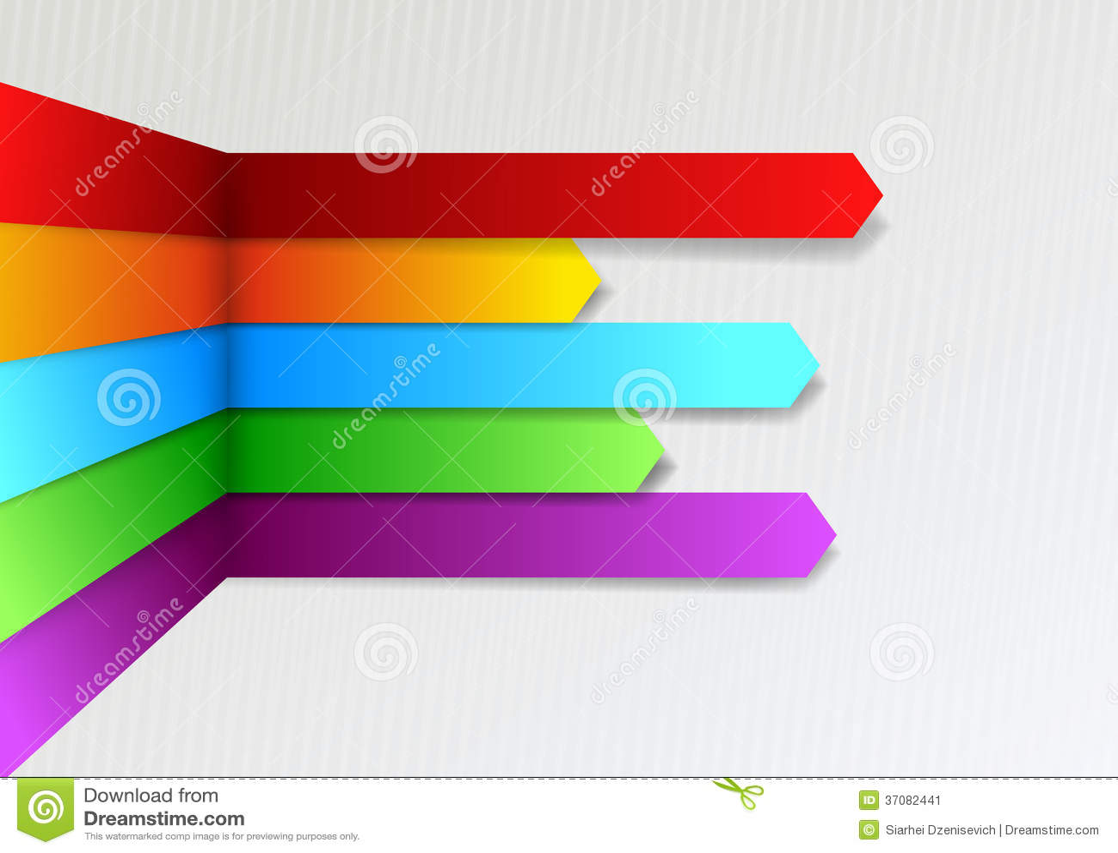 Download Kolorowy Jaskrawy Threedimensional Infographics Arro Ilustracja Wektor - Ilustracja złożonej z origami, 1: 37082441