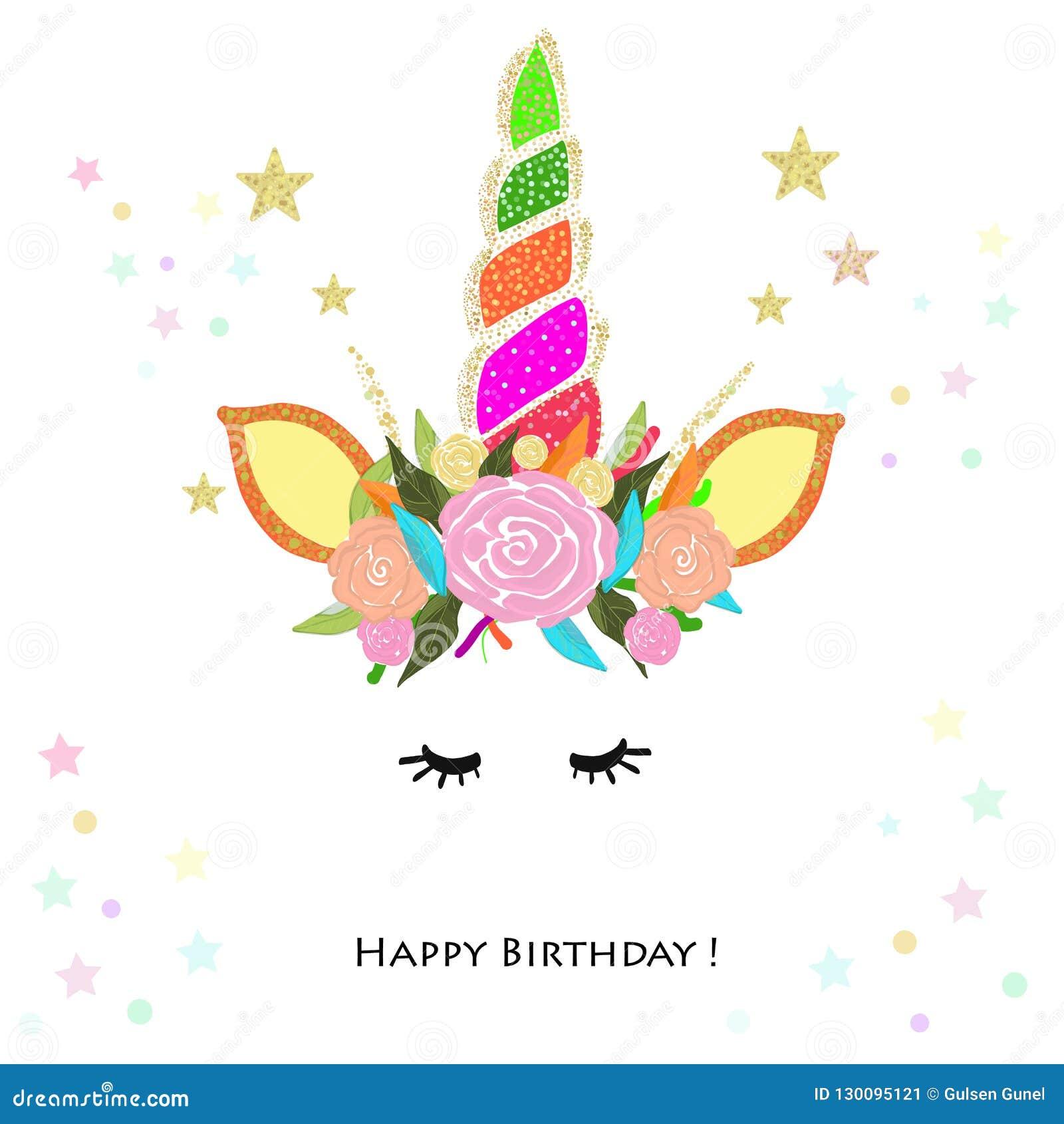 Kolorowy Jednorożec Urodziny Zaproszenie Dziecko Prysznic Partyjny