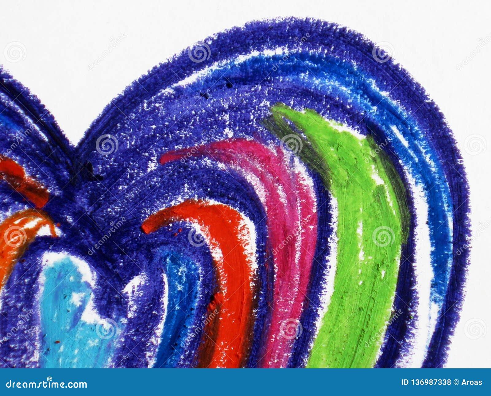 Kolorowy kierowy kształt