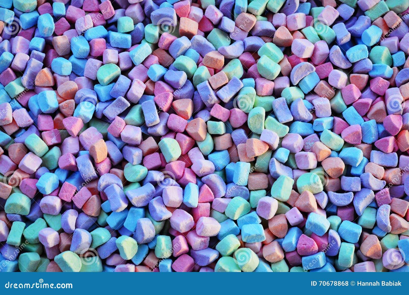Kolorowy Marshmallows tło