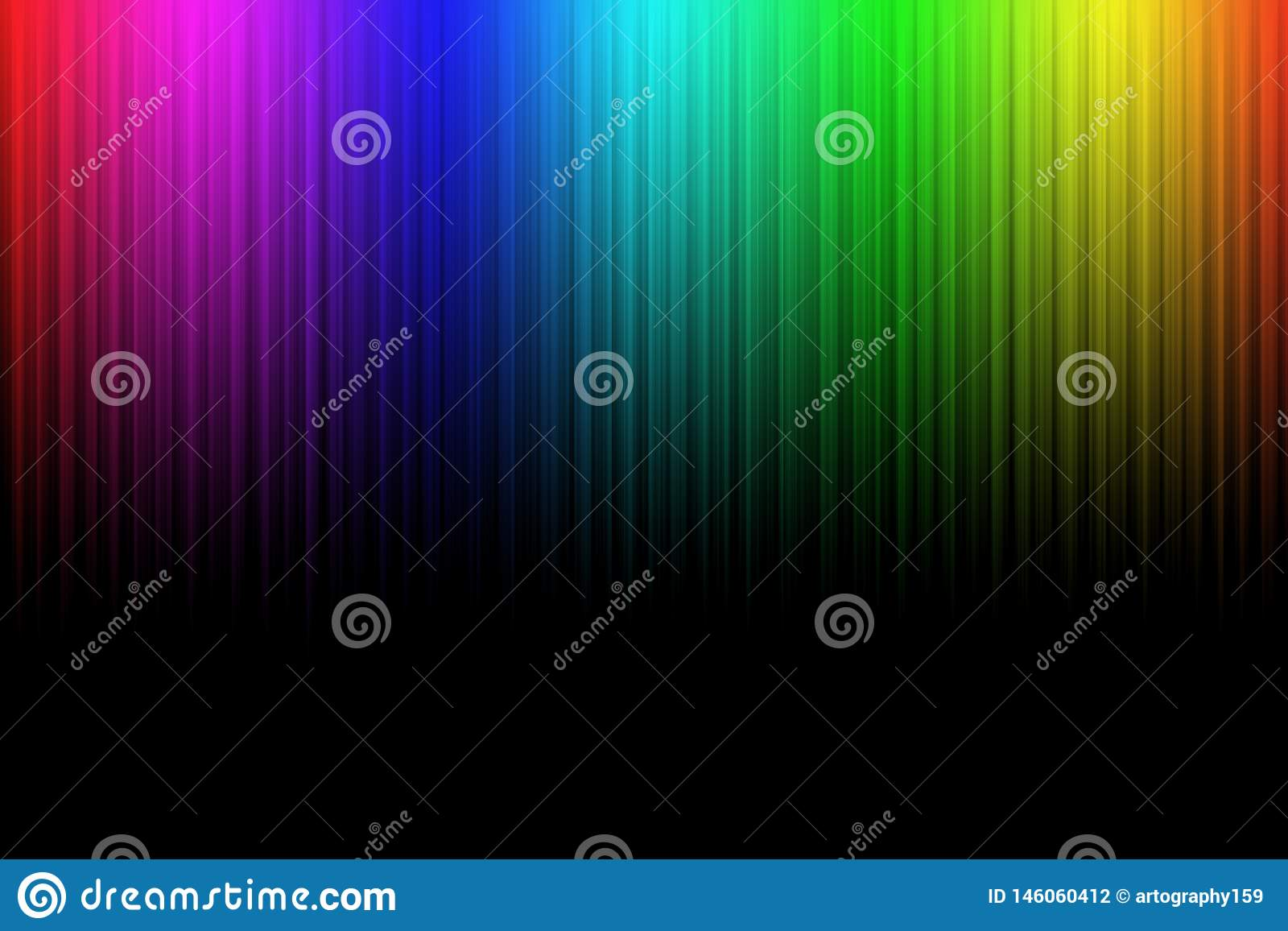 Kolorowy neonowy abstrakt wykłada na czarnym tle