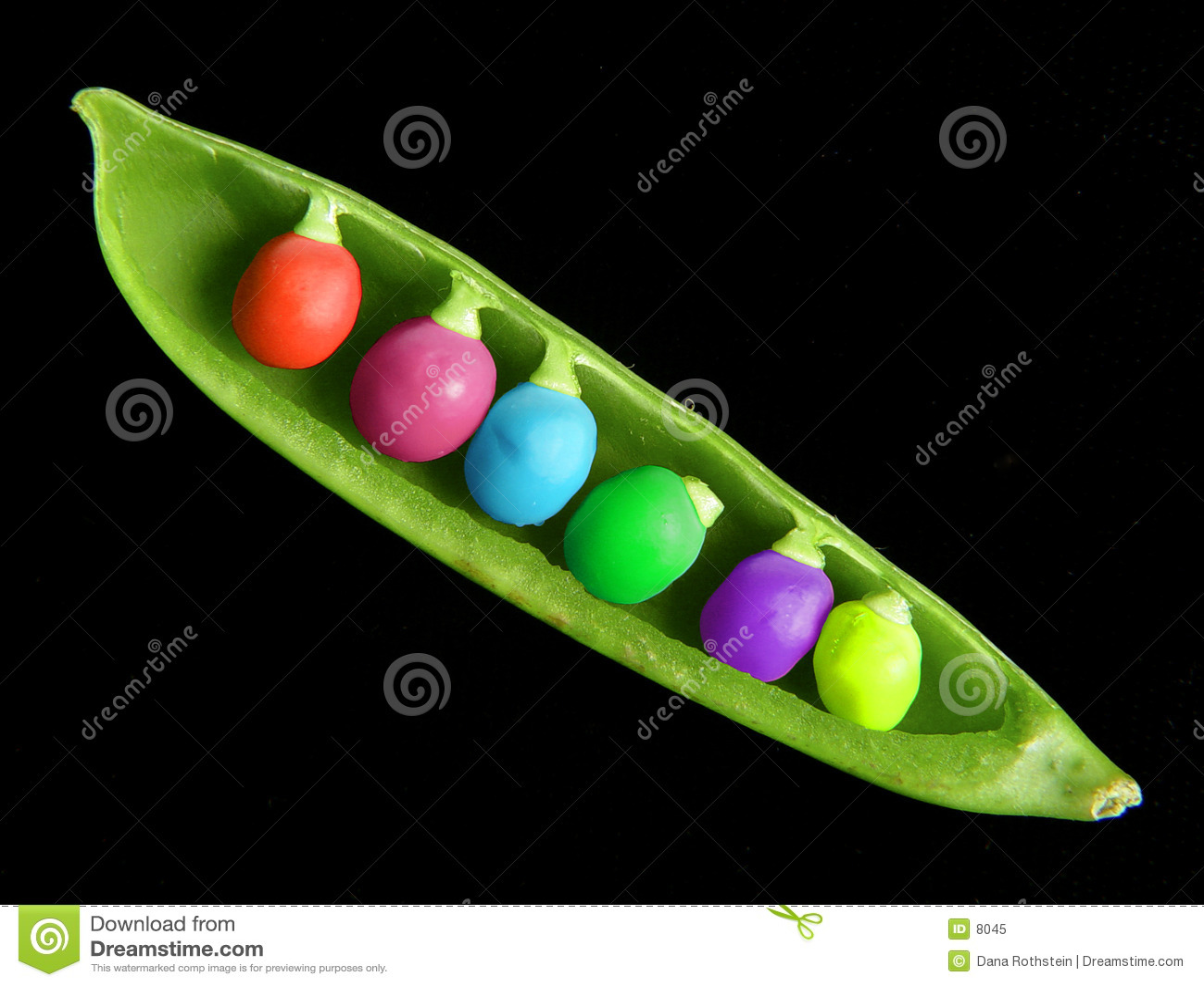 Kolorowy peapod
