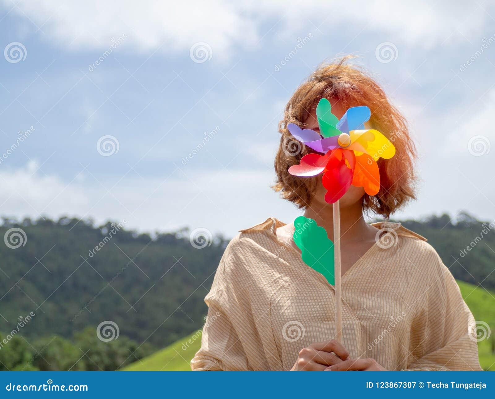 Kolorowy pinwheel