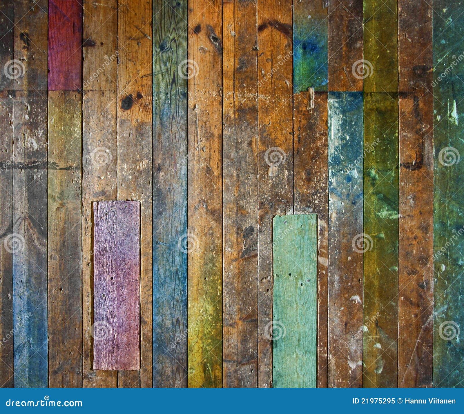 Kolorowy podłogowy stary ścienny drewniany