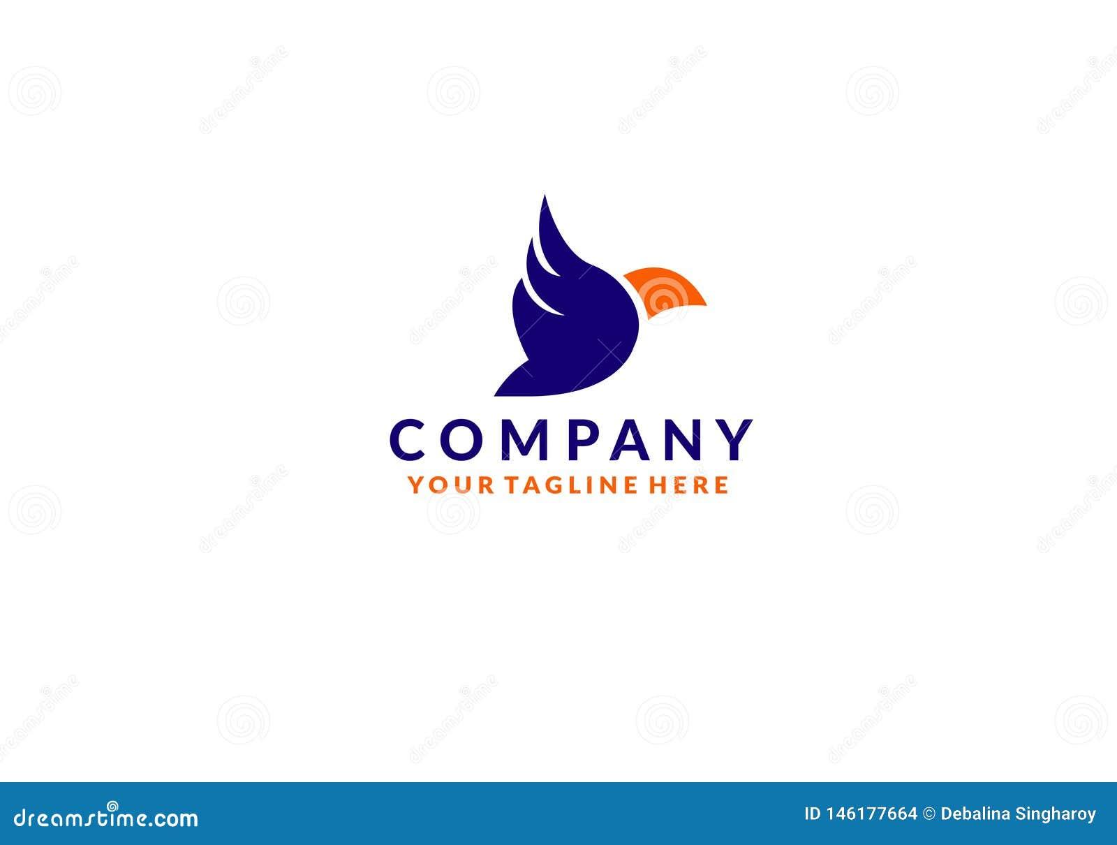 Kolorowy Ptasi Abstrakcjonistyczny logo projekta wektoru szablon Lata? go??bka logotypu poj?cia ikon?