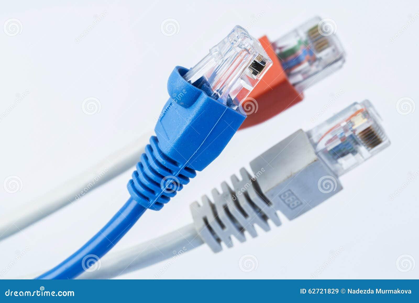 Kolorowy sieć kabel z RJ45 włącznikami