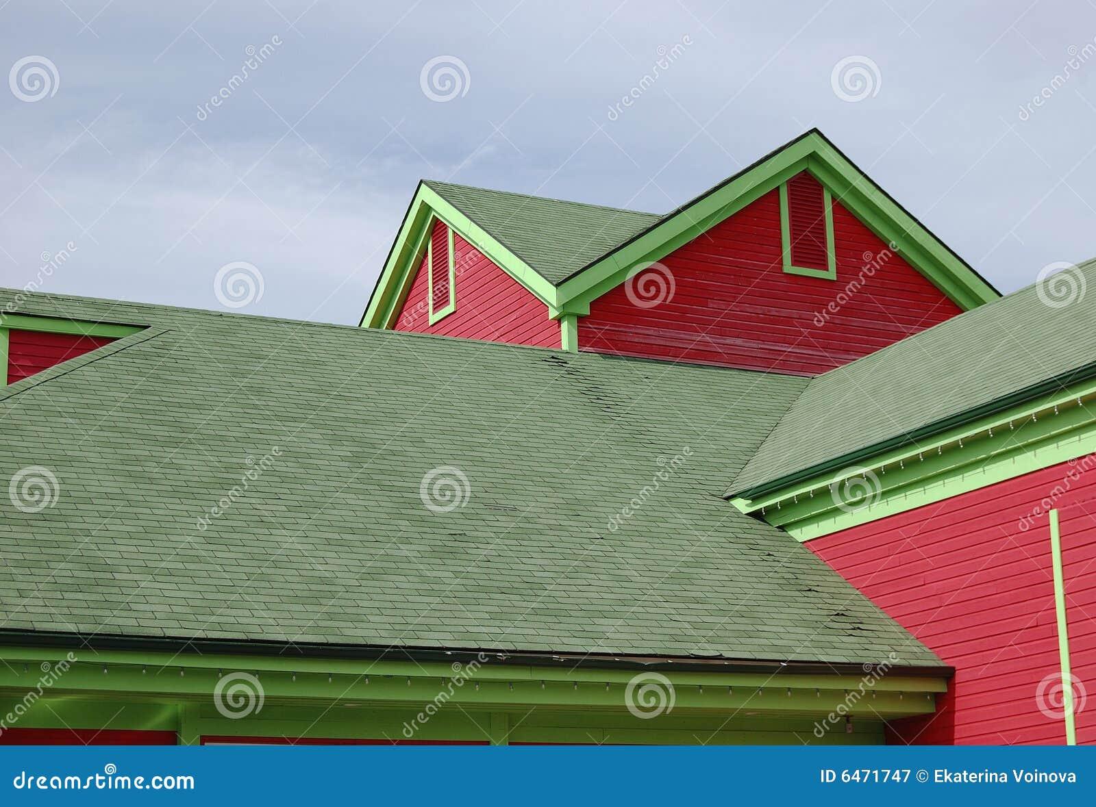Kolorowy w domu drewnianego