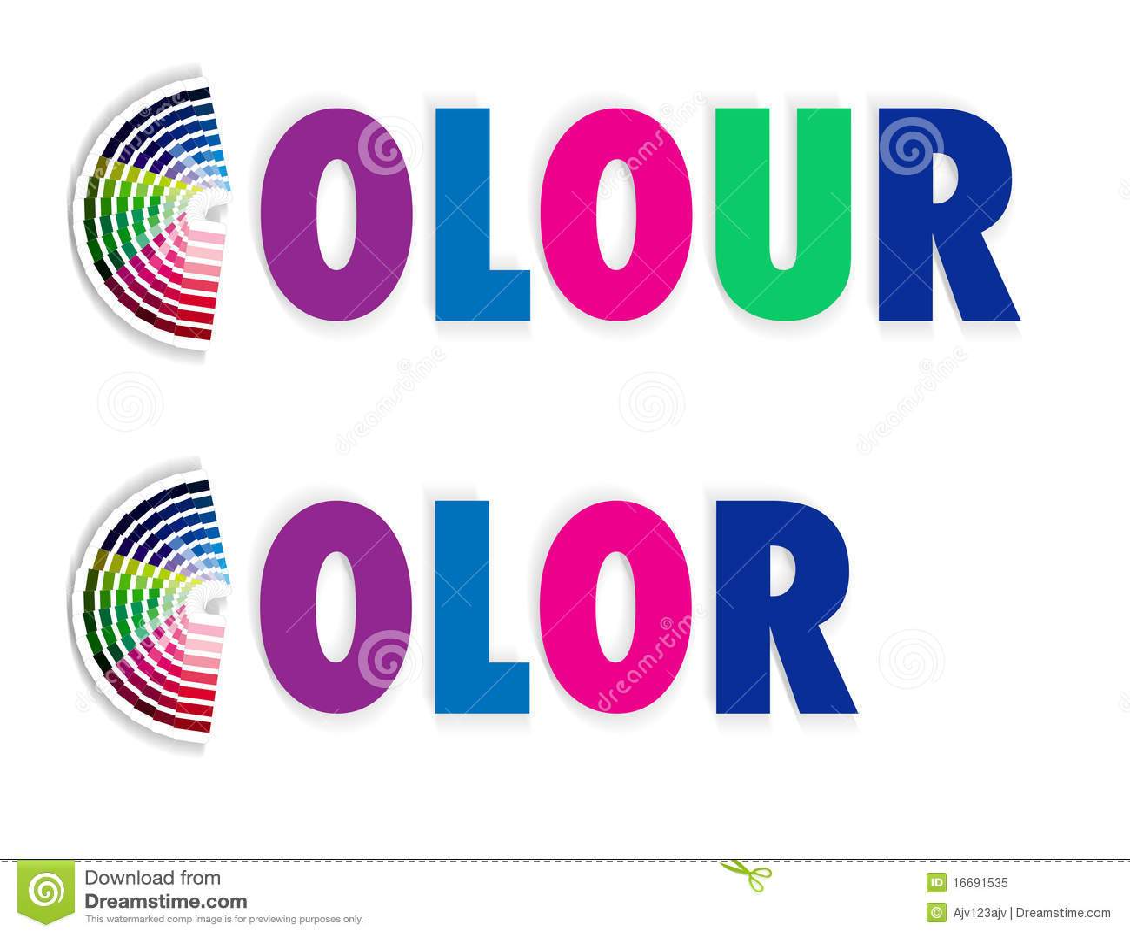 Koloru colour fan swatch