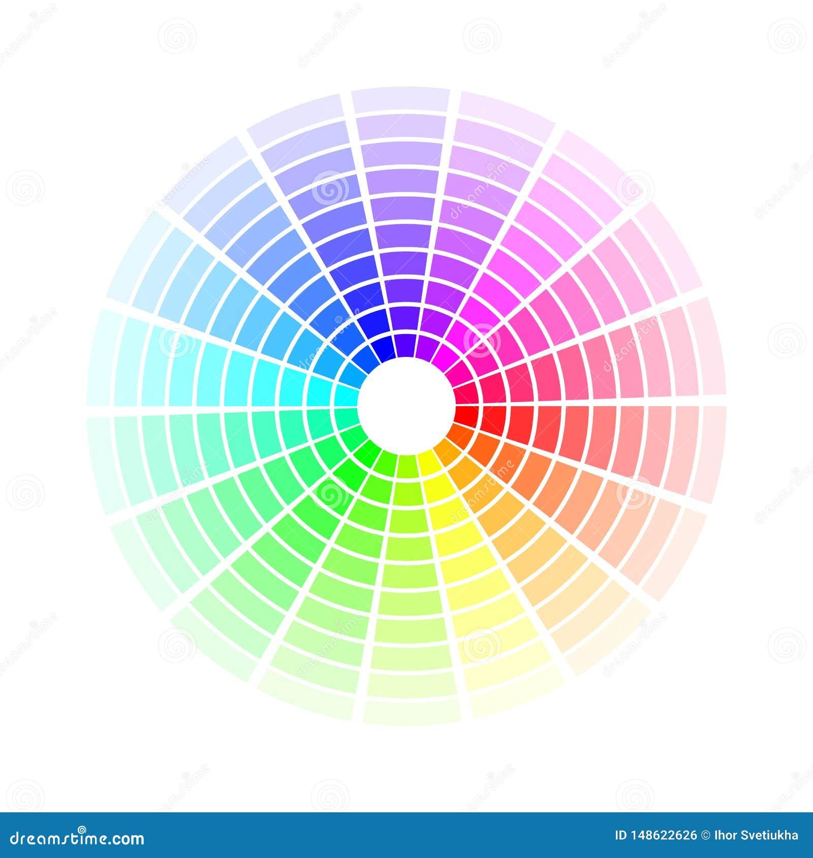Koloru okr?g Jaskrawi kolorowi t?cza cienie Wektorowa ilustracja odizolowywaj?ca na bia?y tle