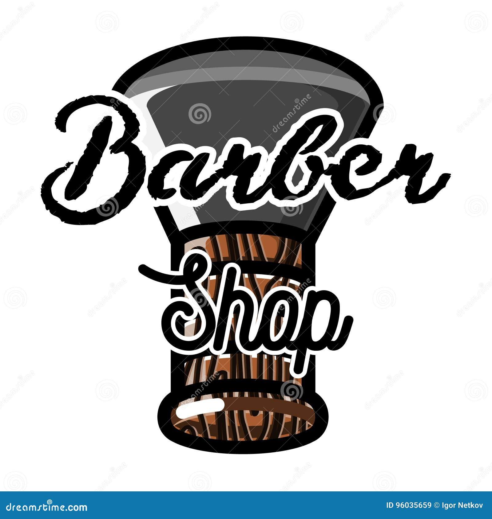 Koloru rocznika fryzjera męskiego sklepu emblemat