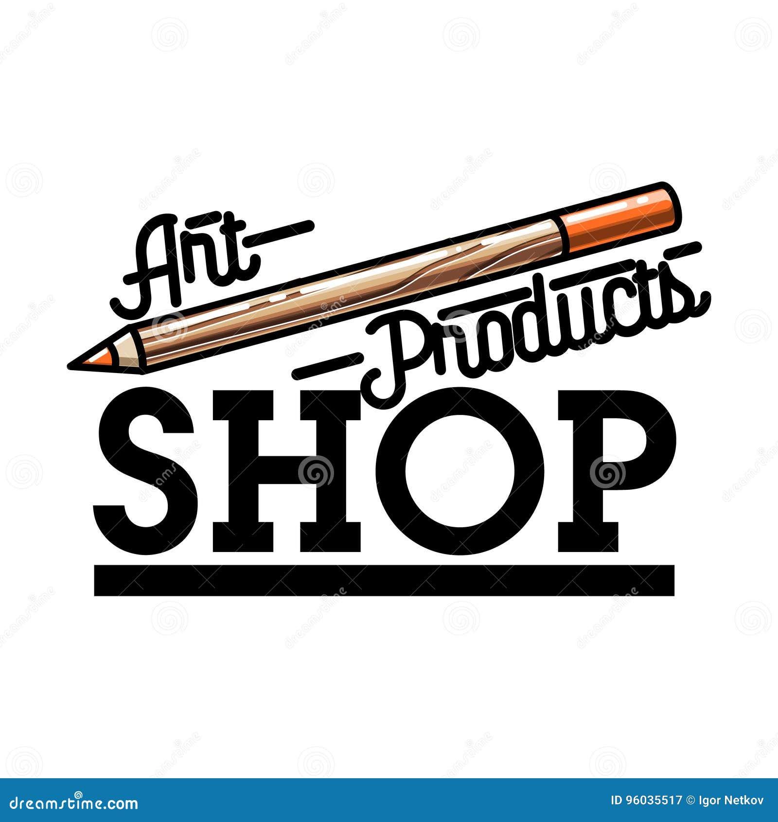 Koloru rocznika sztuki produktów sklepowy emblemat