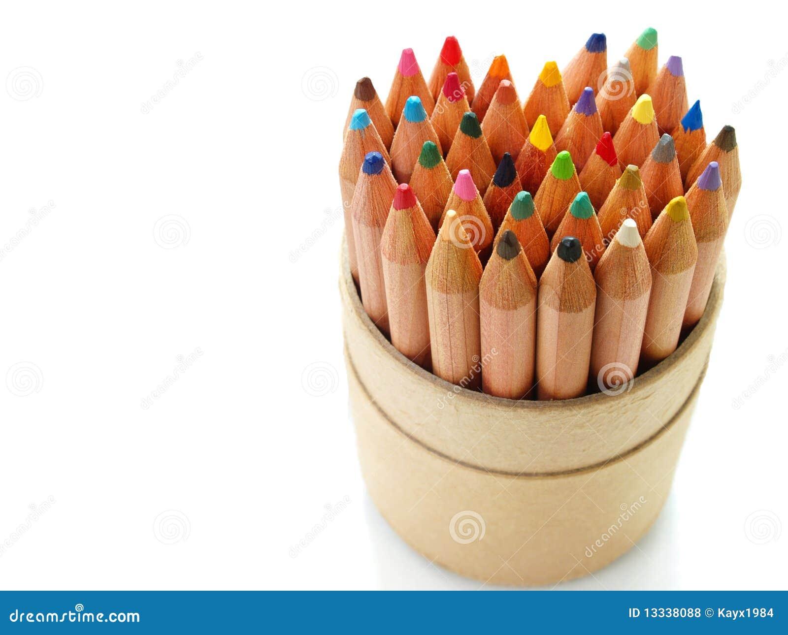 Koloru serca ołówki