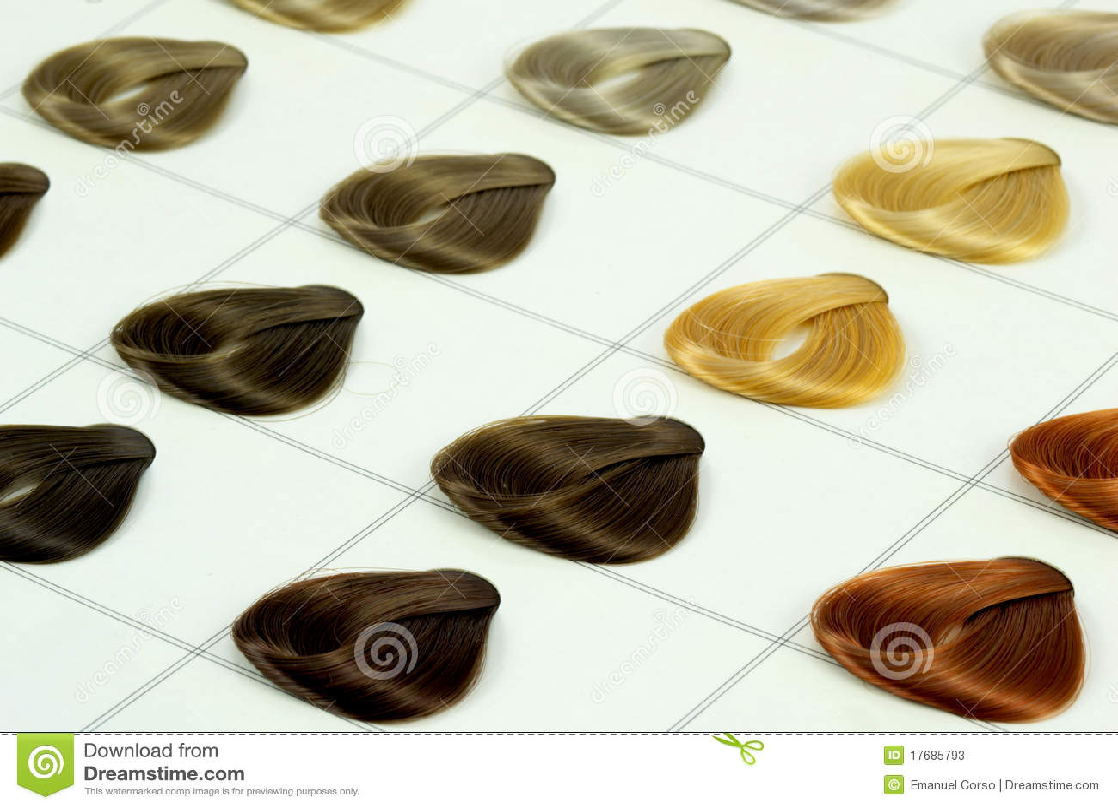 Koloru włosy próbki