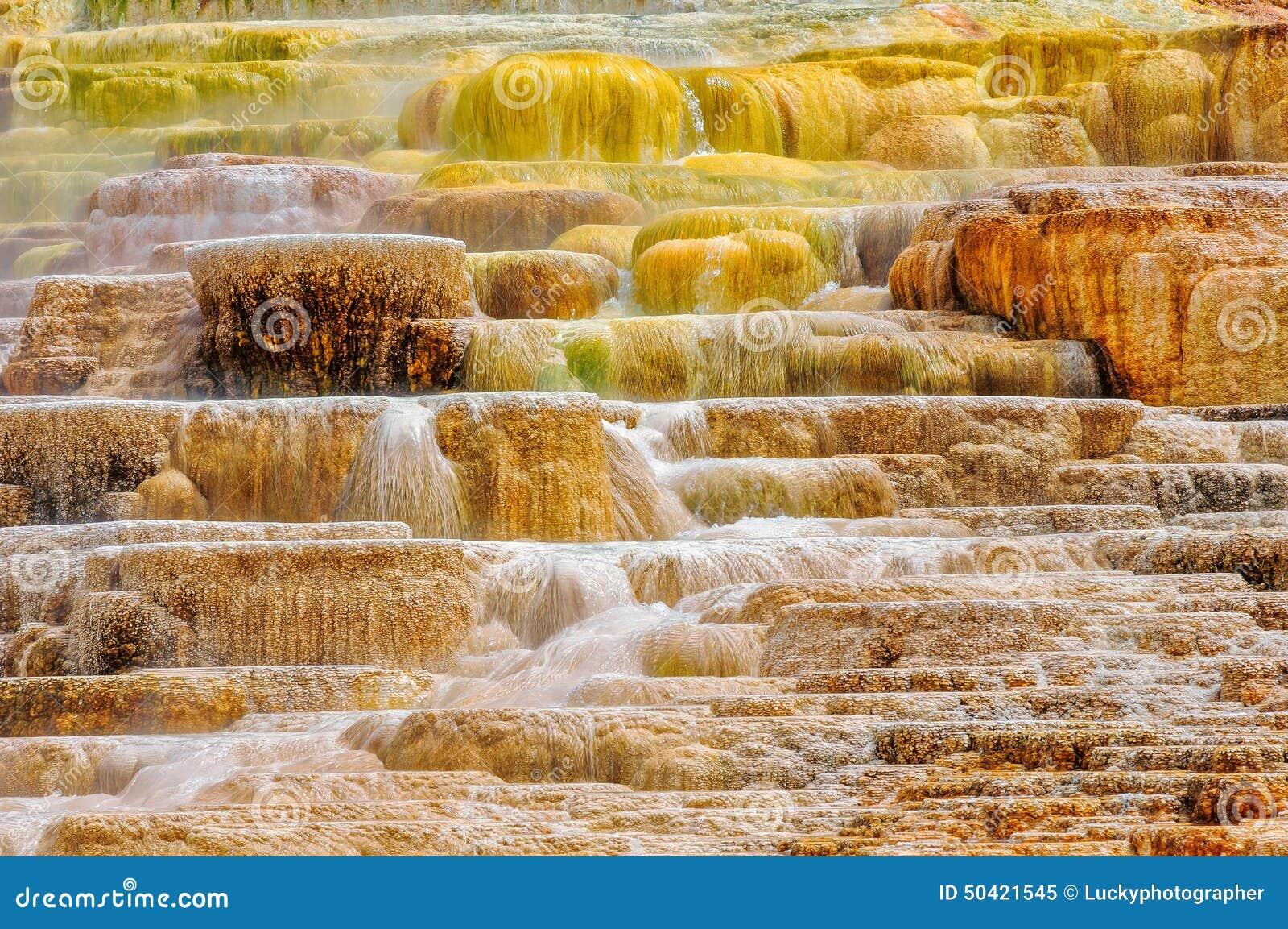 Kolory Yellowstone park narodowy