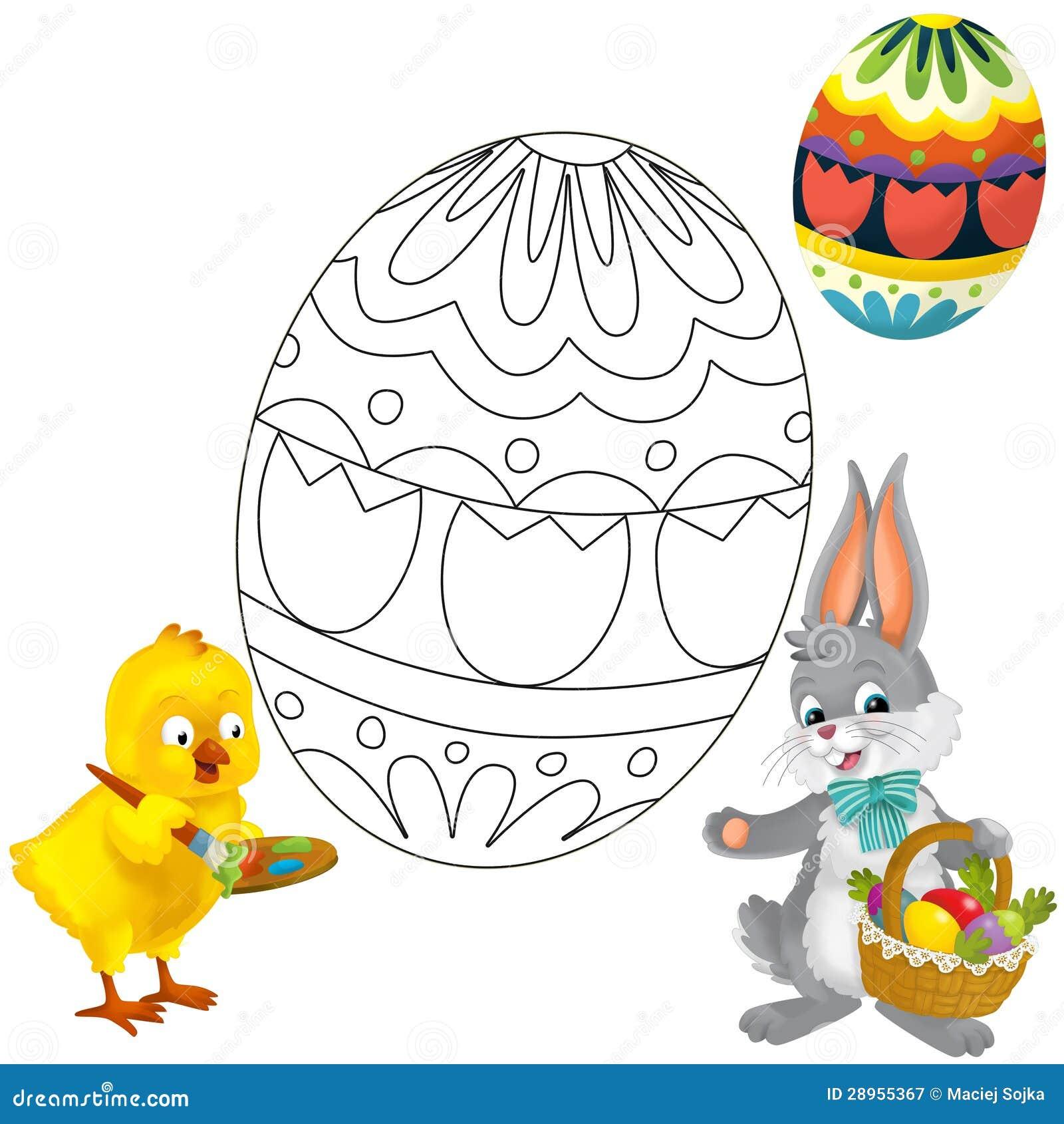 Kolorystyka talerz - Easter