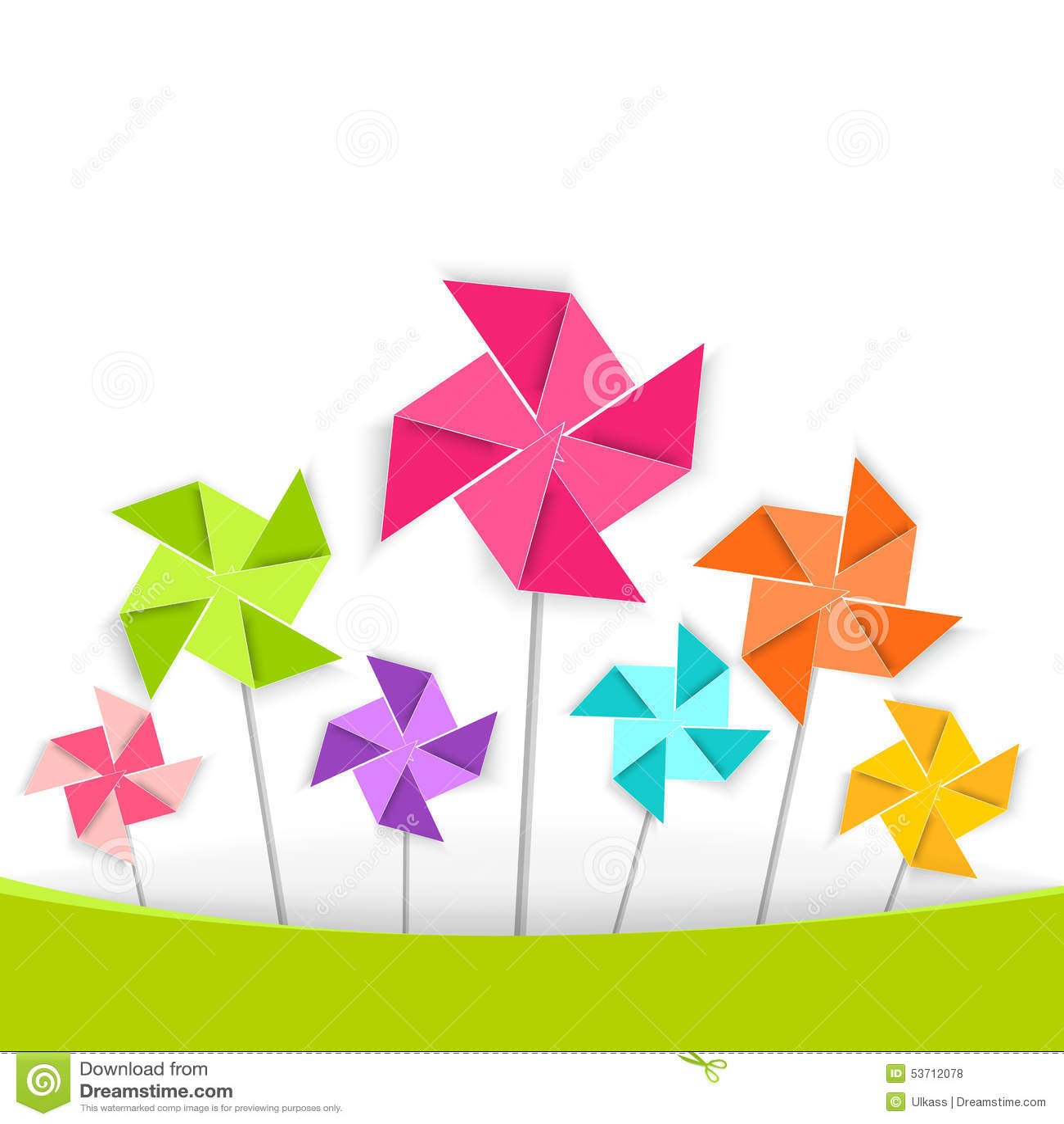 Kolorystyki kreskówki pinwheel, wektor EPS10