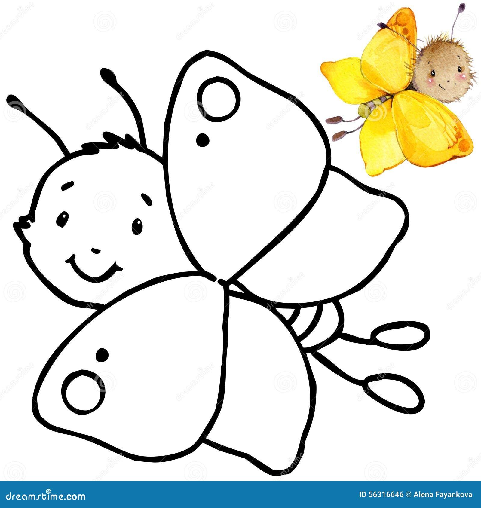 Kolorystyki książki kreskówki śmieszny insekt