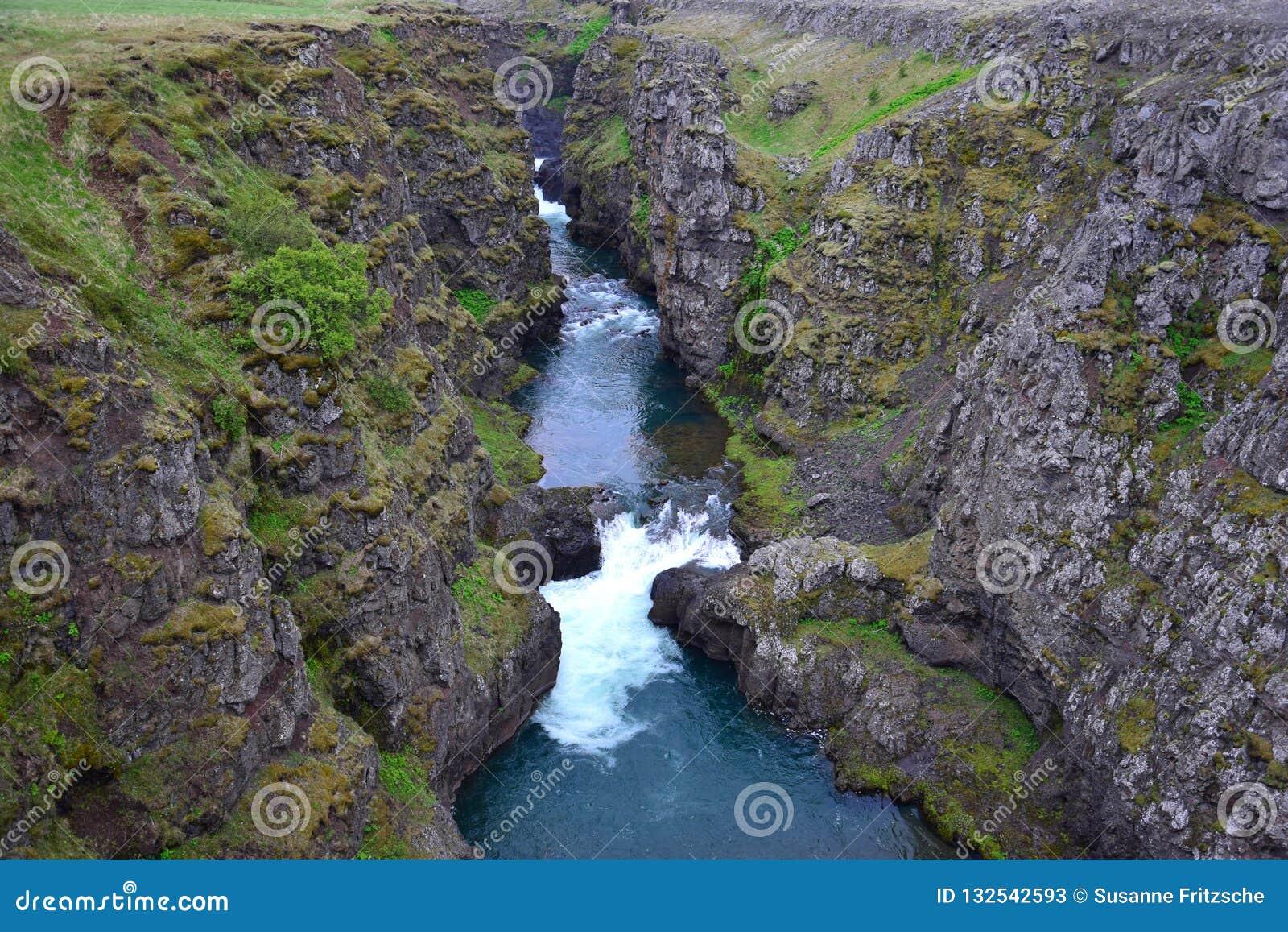 The Kolugljufur canyon in Iceland